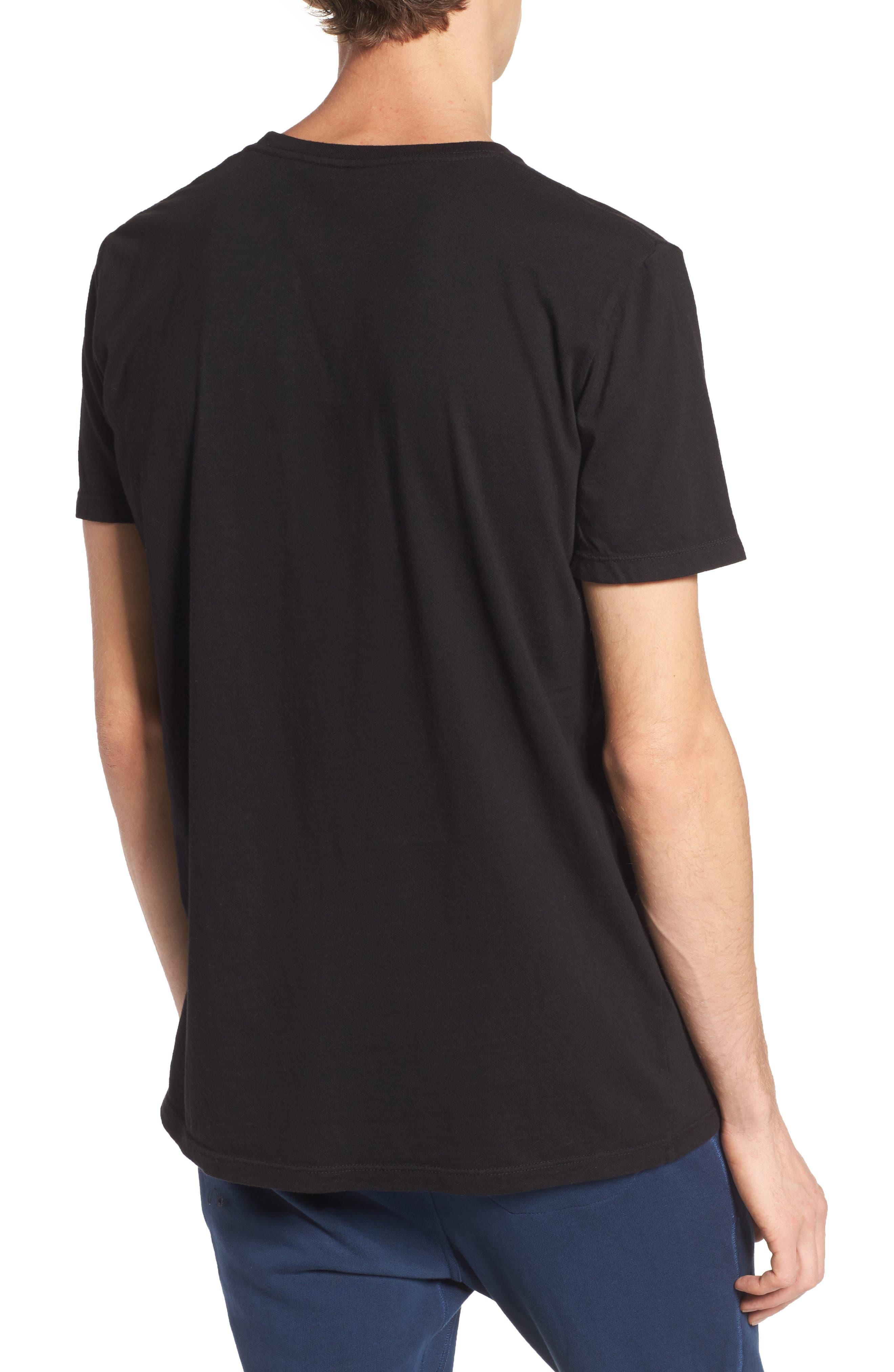 Lounge Pocket T-Shirt,                             Alternate thumbnail 2, color,                             BLACK