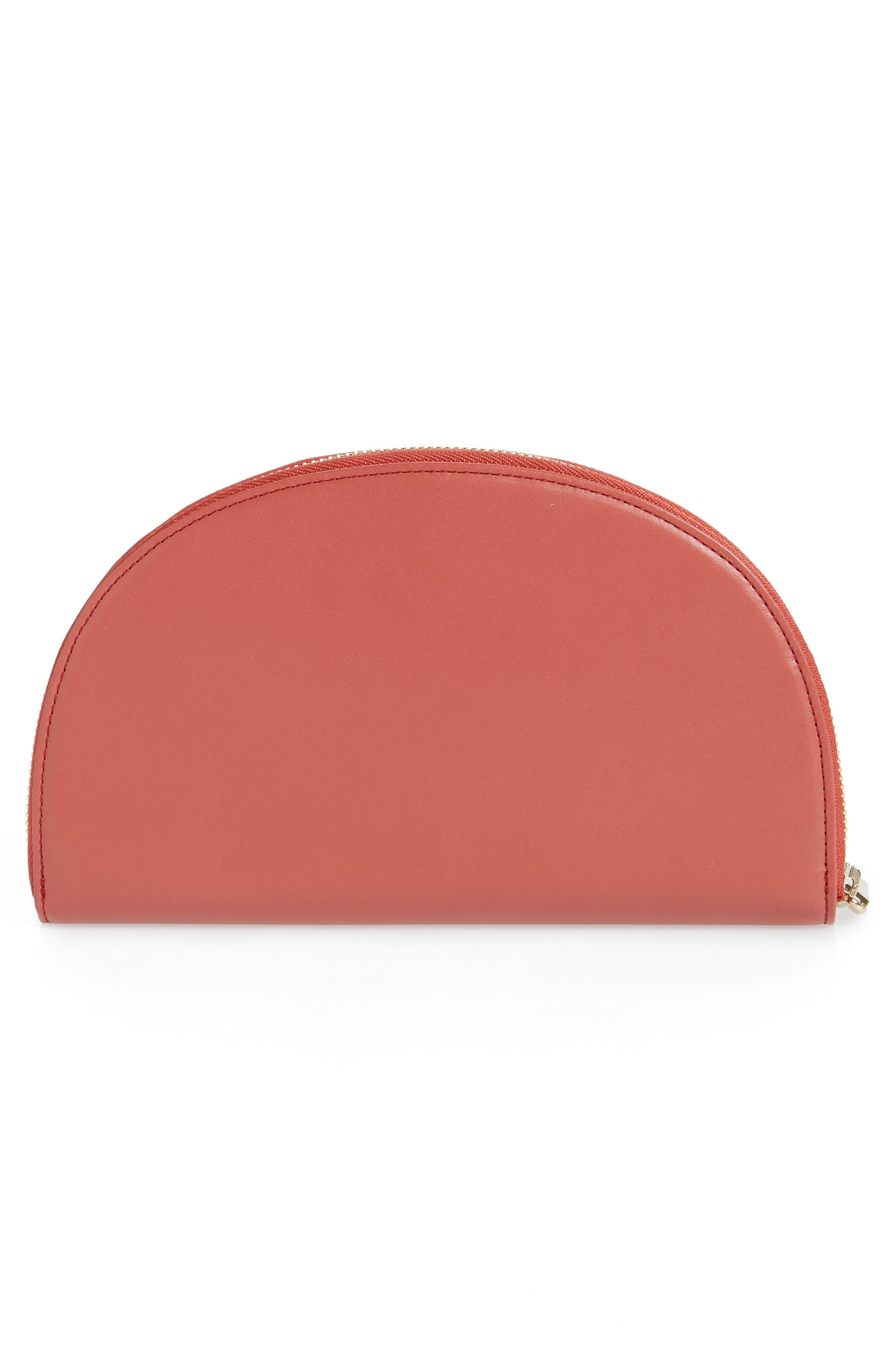 Dia Continental Mirror Wallet,                             Alternate thumbnail 3, color,                             ROSE WOOD