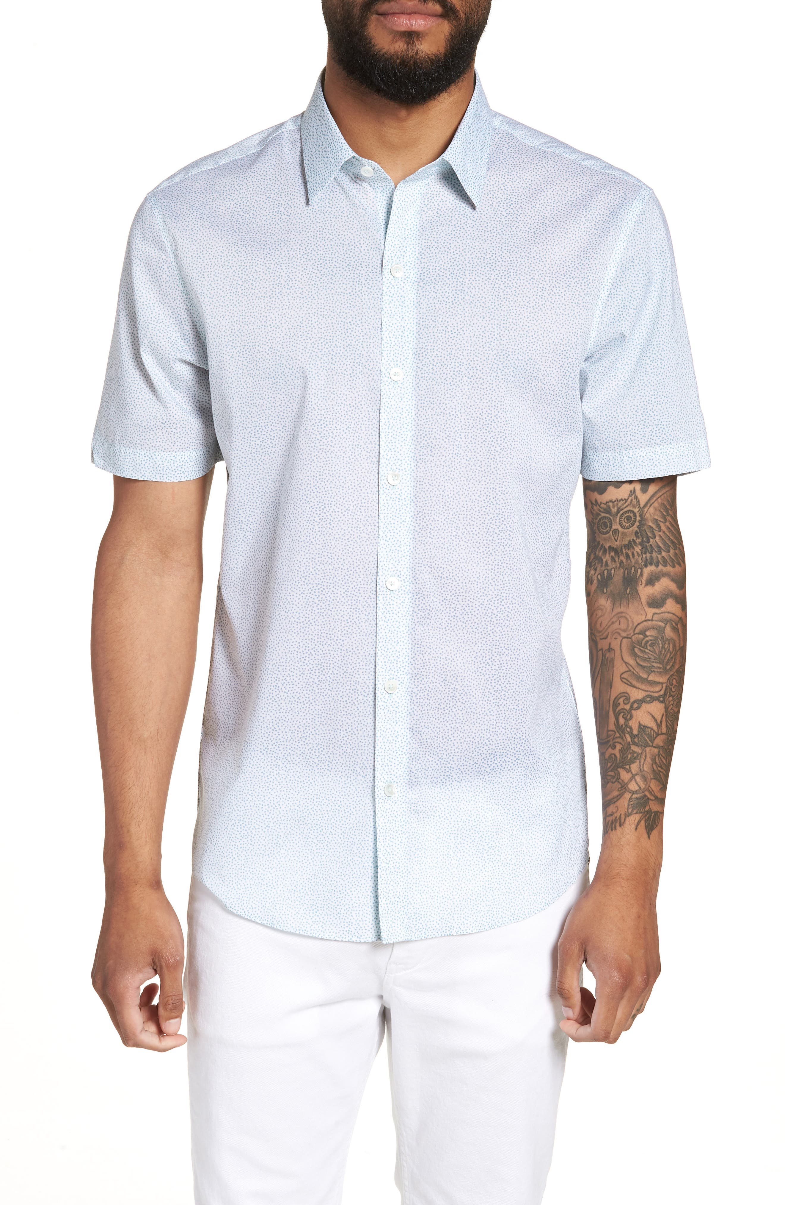 Fung Regular Fit Sport Shirt,                             Main thumbnail 1, color,                             WHITE