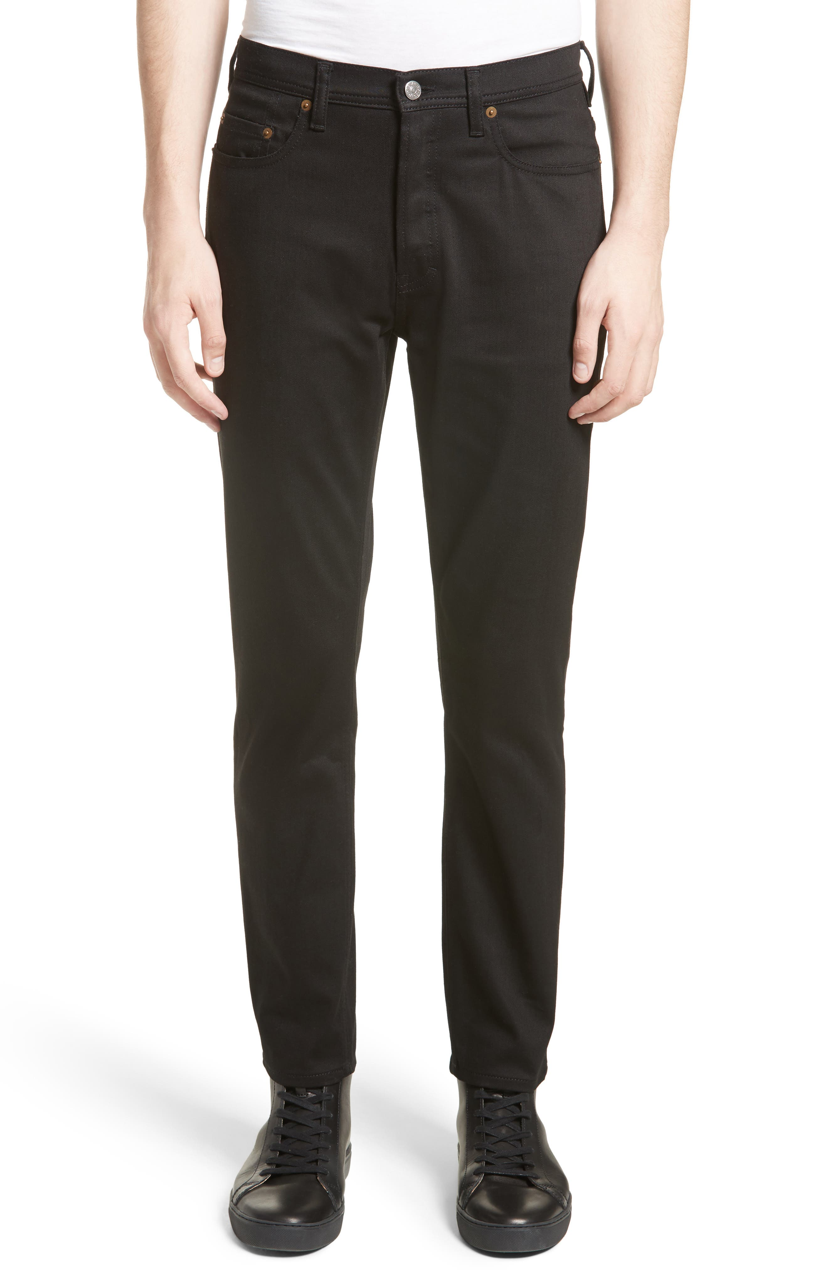 River Slim Taper Jeans,                             Main thumbnail 1, color,                             BLACK