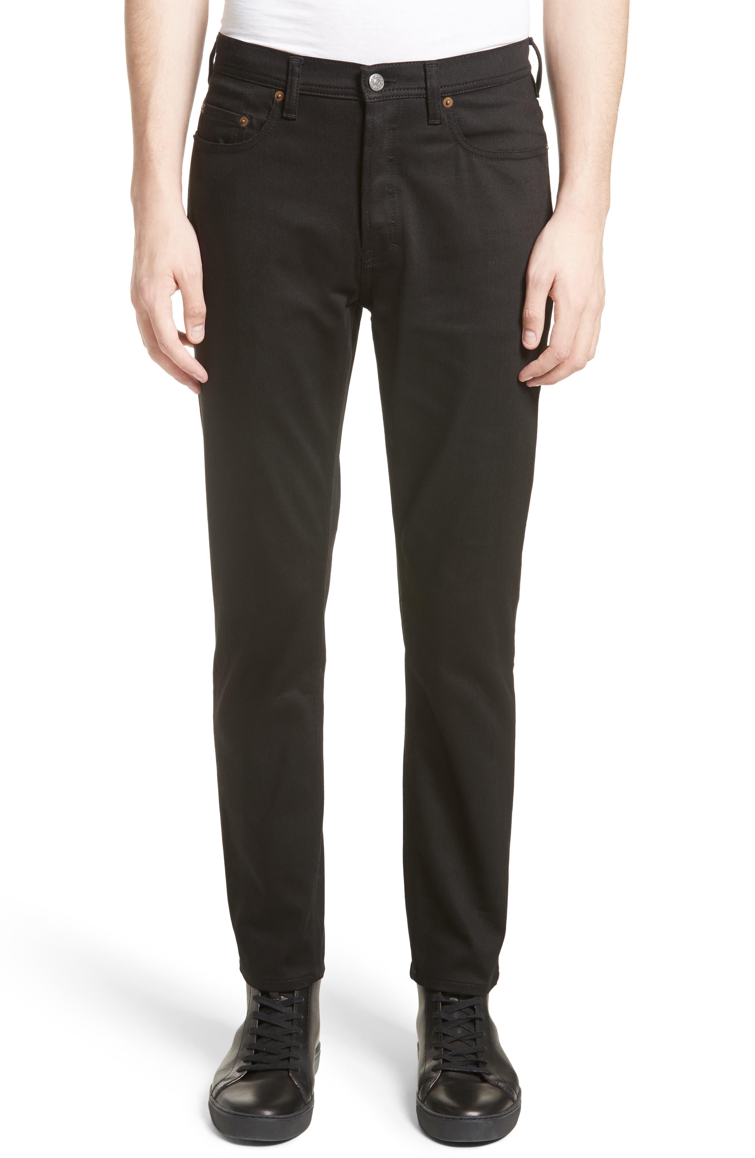 River Slim Taper Jeans,                         Main,                         color, BLACK