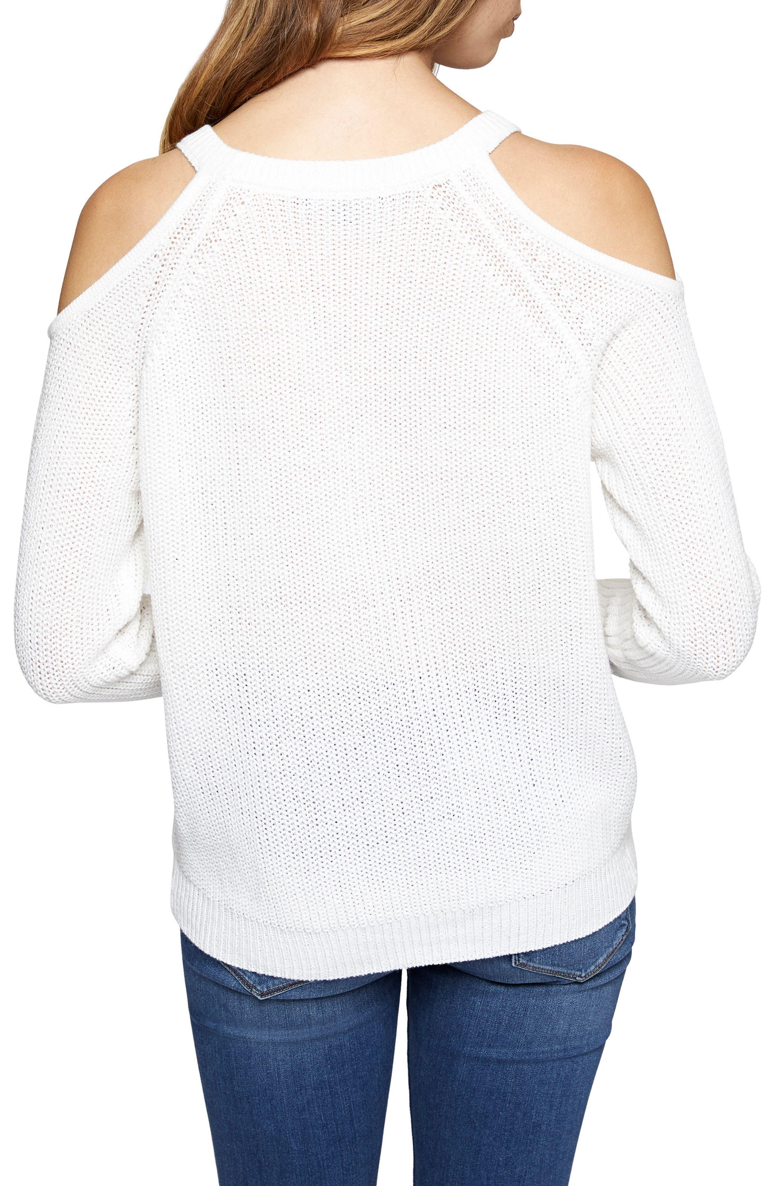 Riley Cold Shoulder Sweater,                             Alternate thumbnail 11, color,