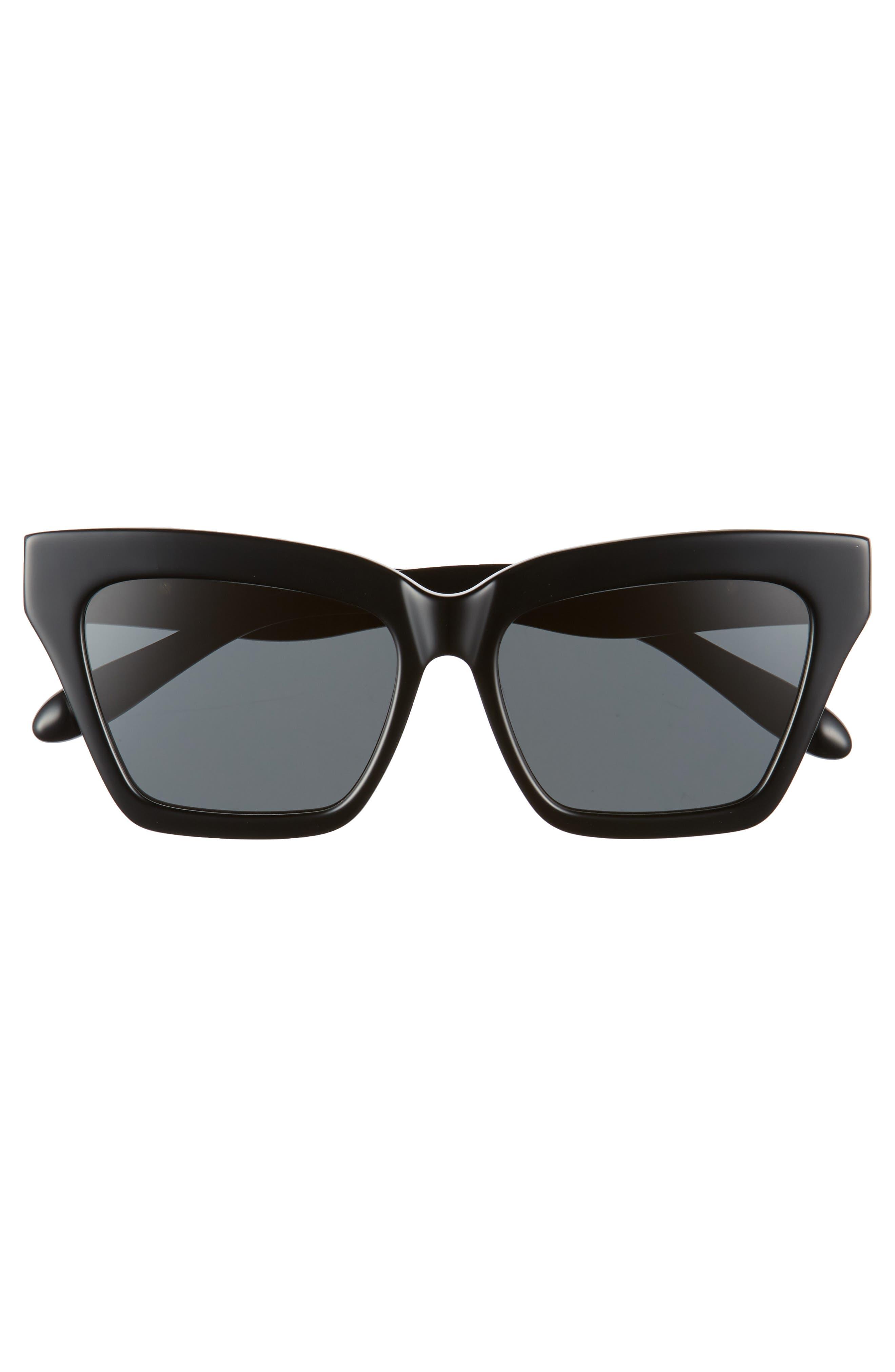 Half Half 54mm Cat Eye Sunglasses,                             Alternate thumbnail 3, color,                             001