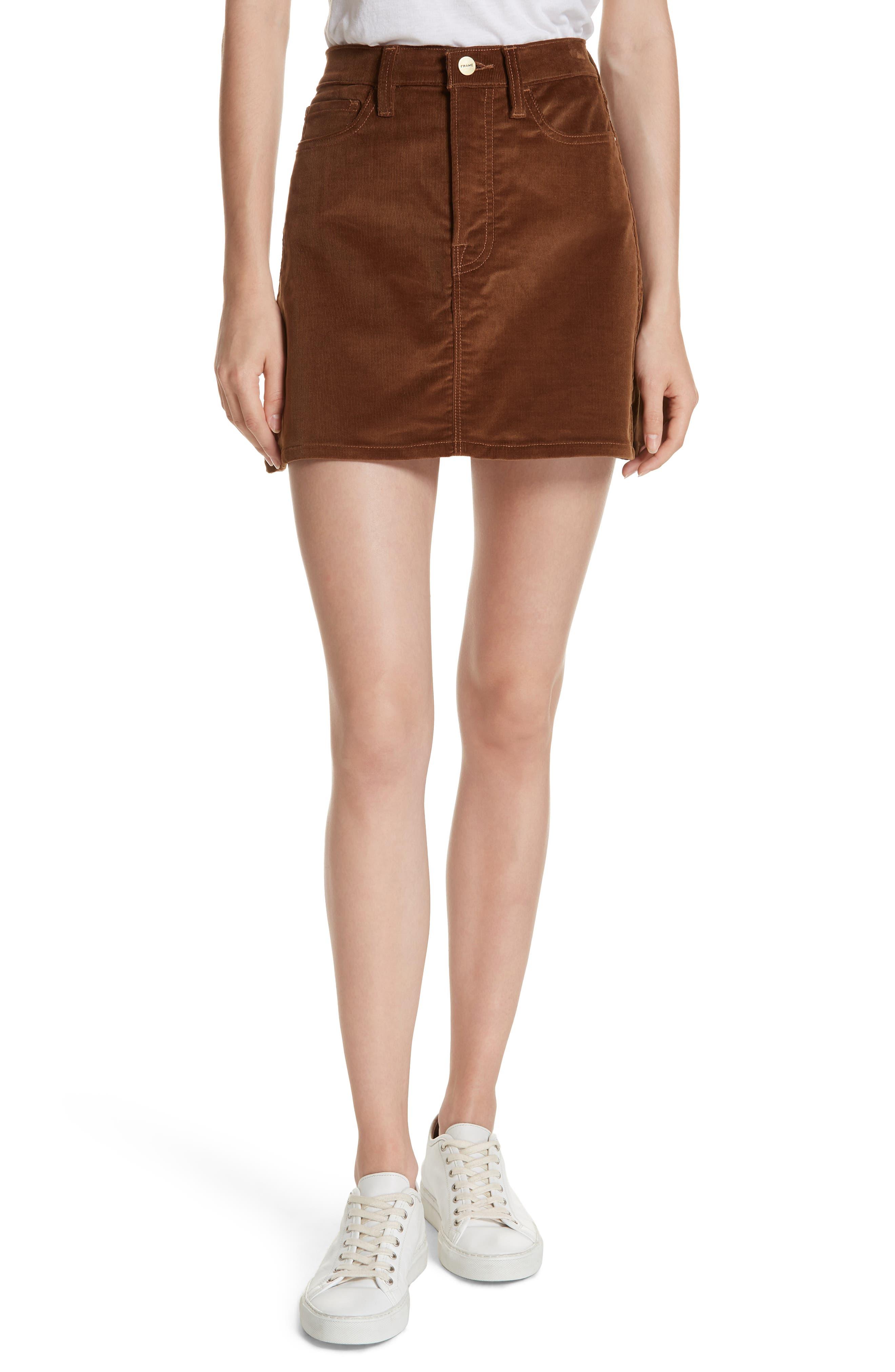 Le Mini Corduroy Skirt,                             Main thumbnail 1, color,                             253