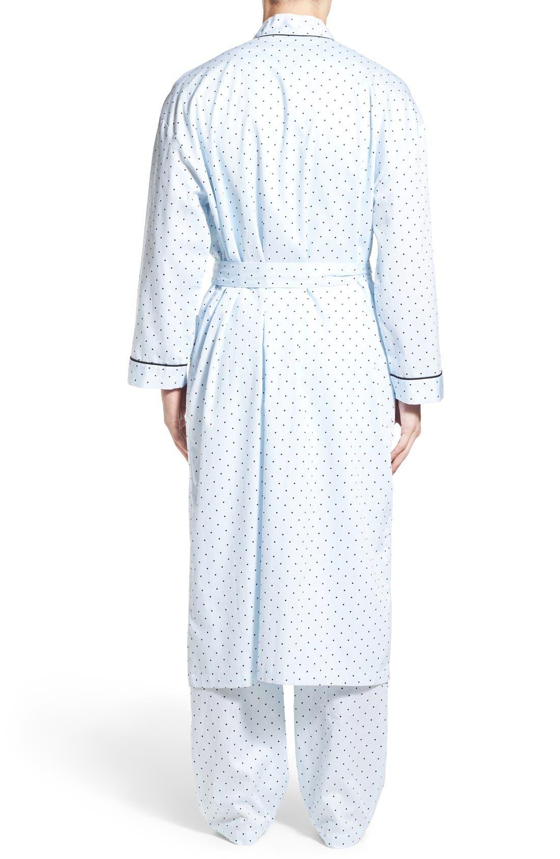 'Twilight Blue' Cotton Robe,                             Alternate thumbnail 2, color,