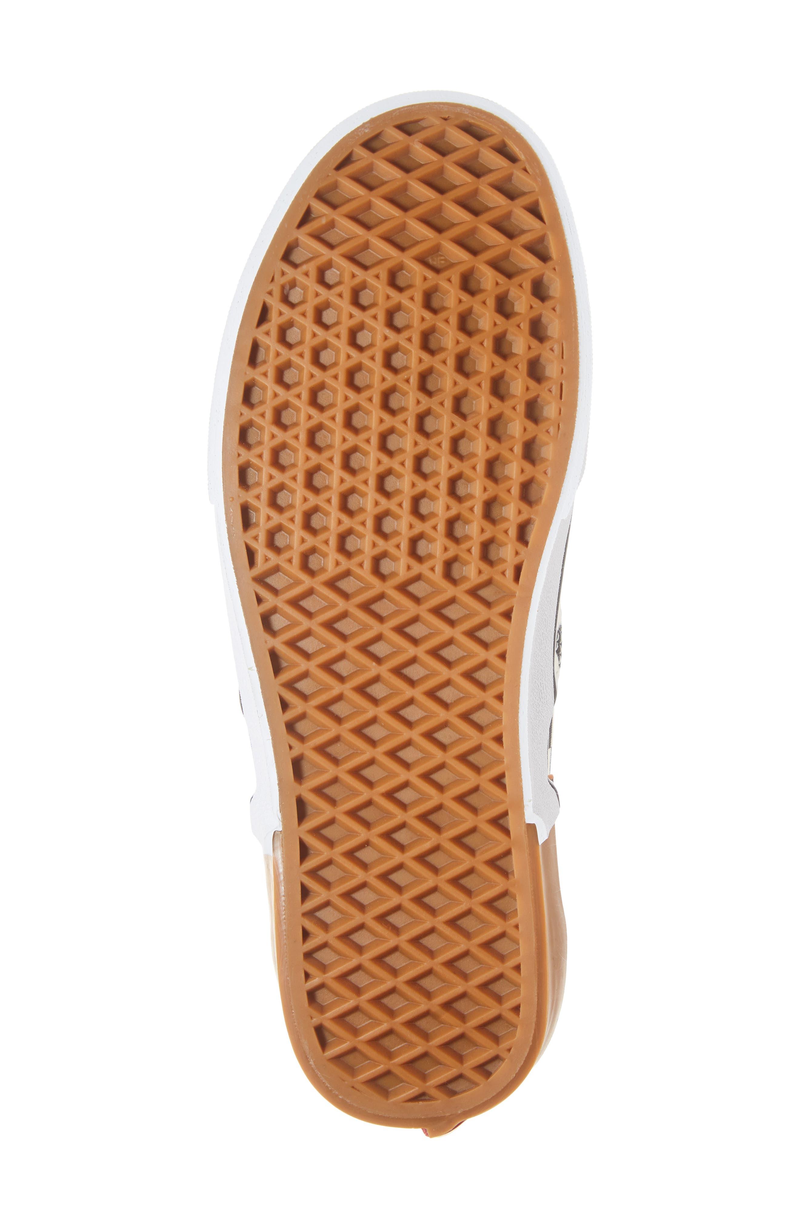 Authentic Gum Block Sneaker,                             Alternate thumbnail 6, color,                             CHECKERBOARD BLOCK CANVAS