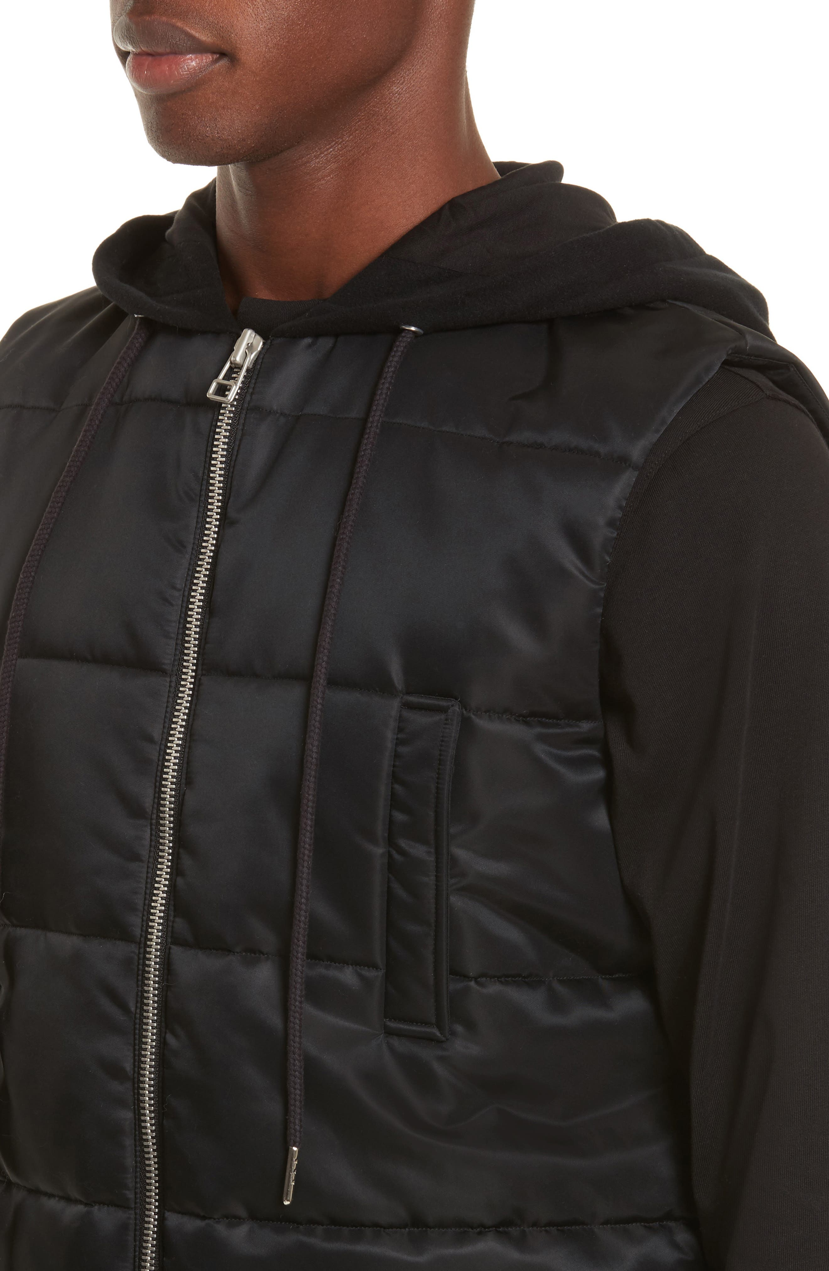 Hooded Puffer Vest,                             Alternate thumbnail 4, color,                             001