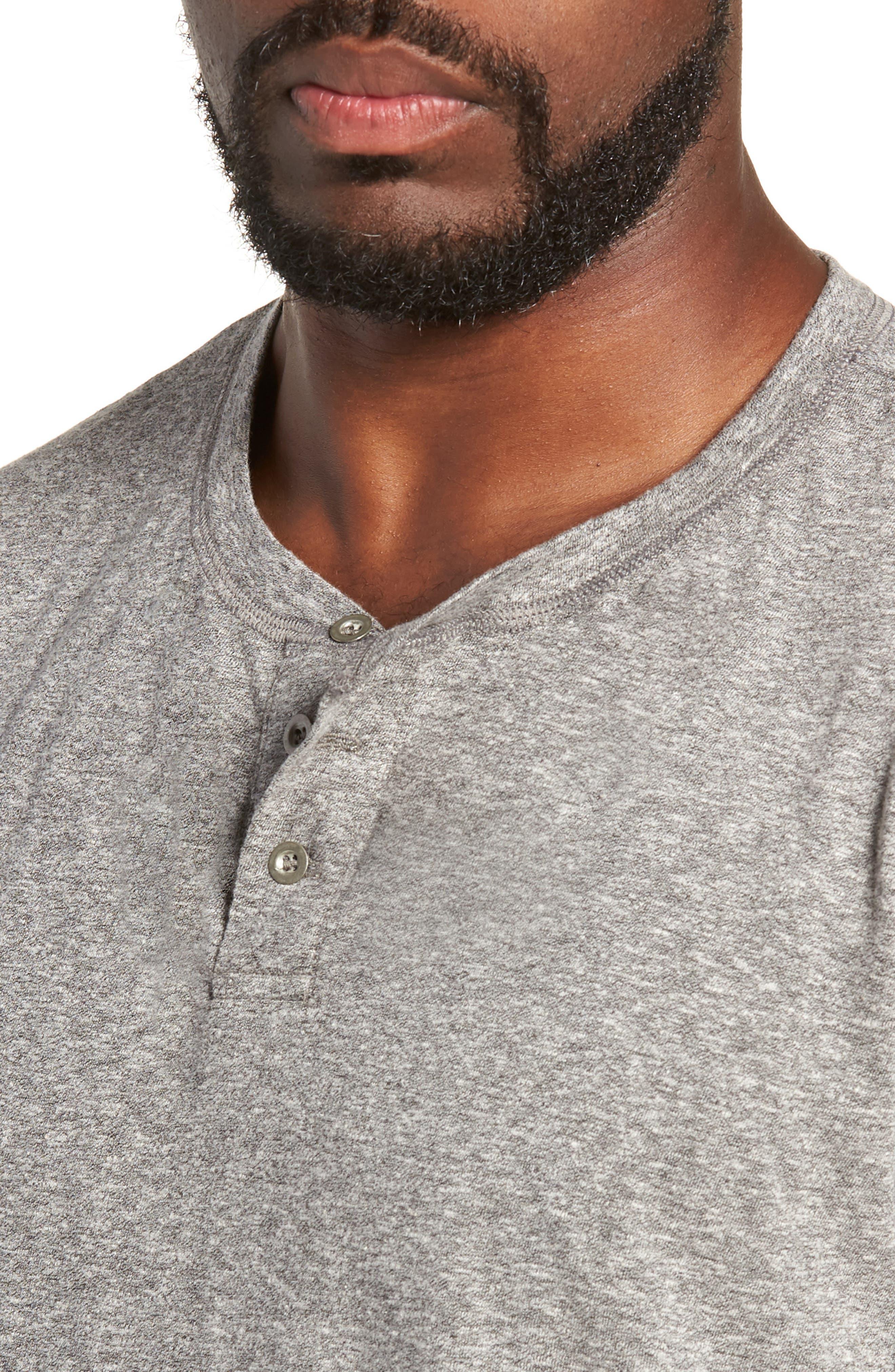 Triblend Henley Shirt,                             Alternate thumbnail 4, color,                             020