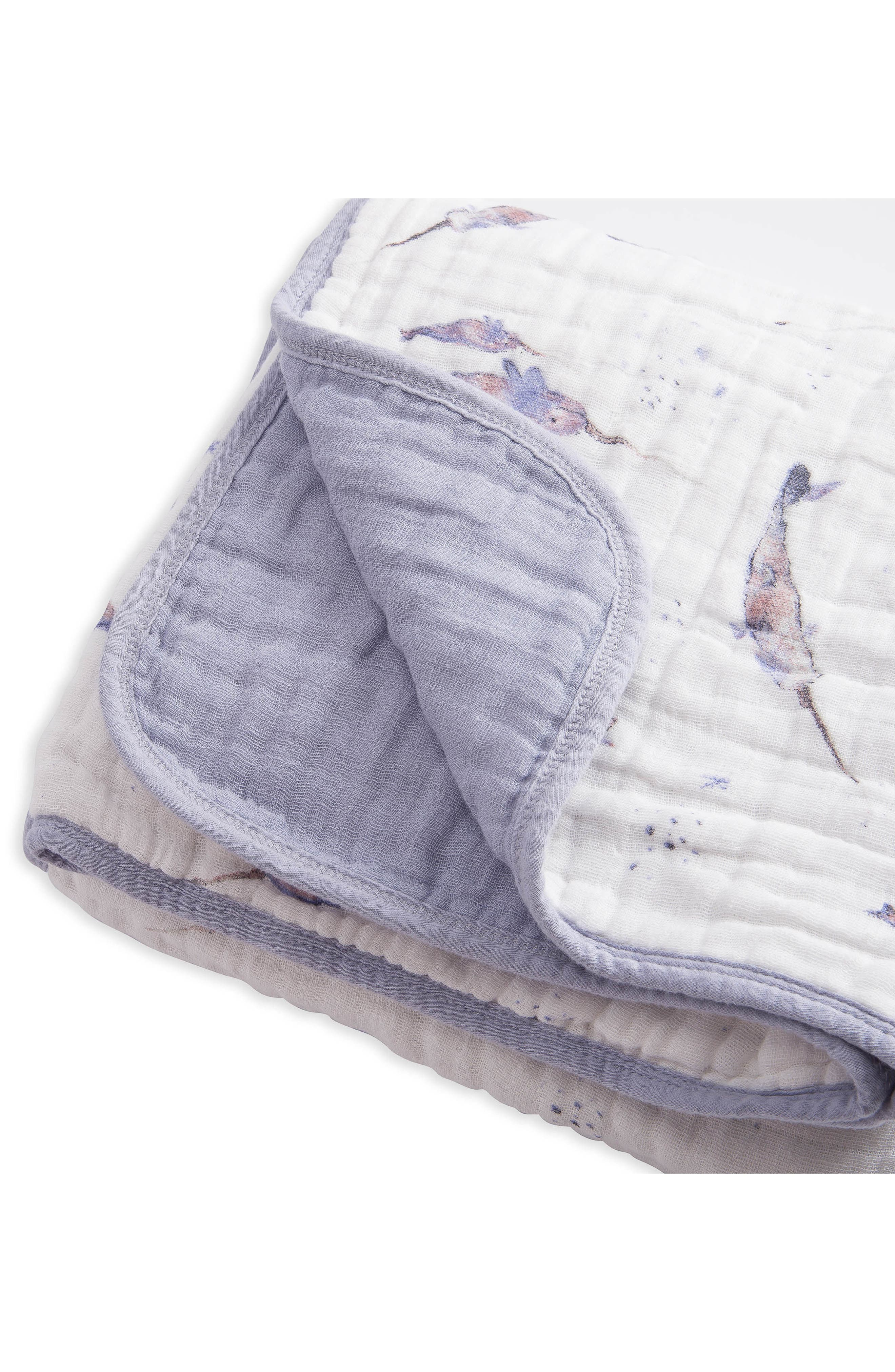 Cotton Muslin Quilt,                             Alternate thumbnail 2, color,                             NARWHAL