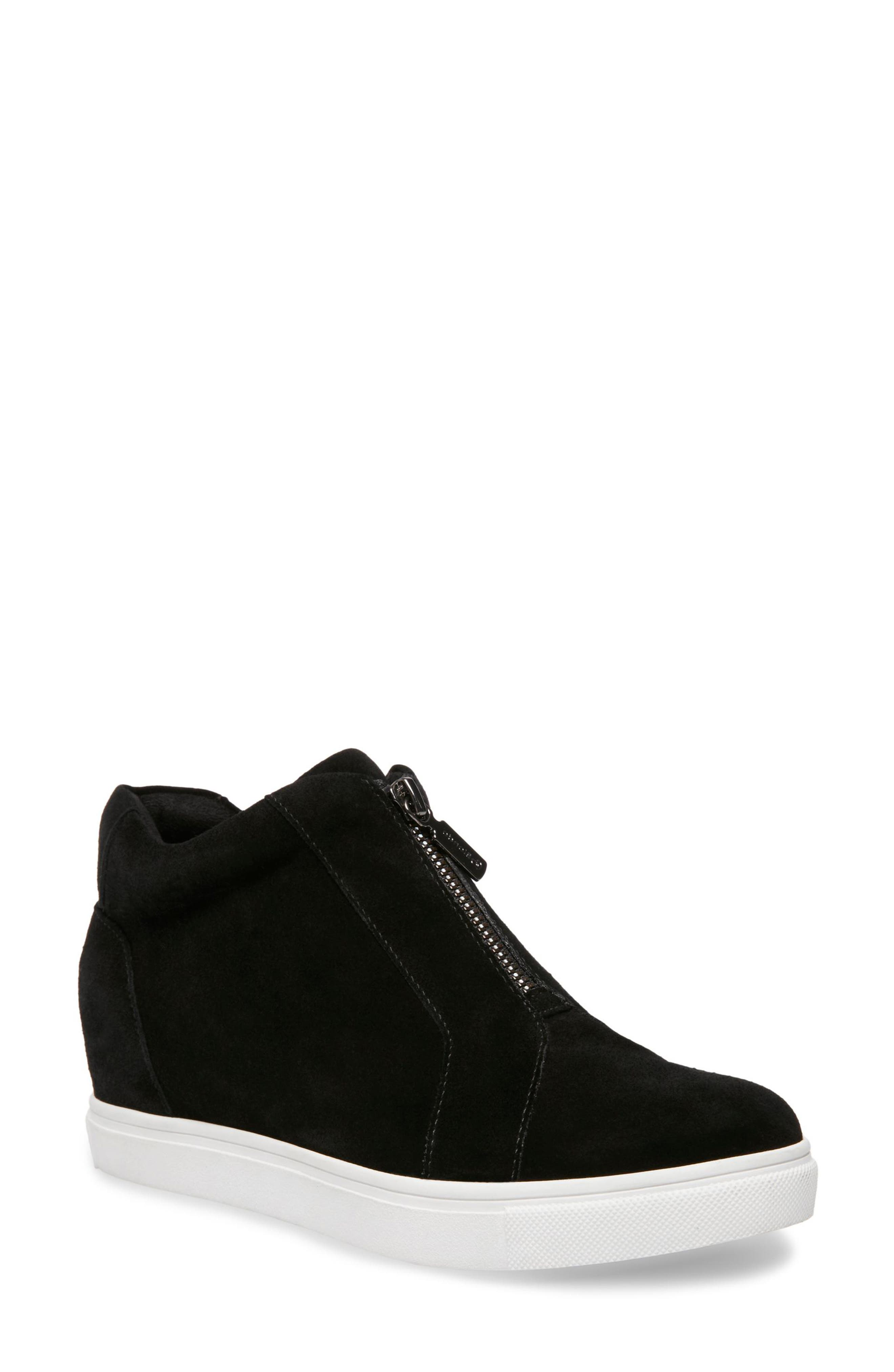 Glenda Waterproof Sneaker Bootie,                             Main thumbnail 1, color,                             BLACK SUEDE