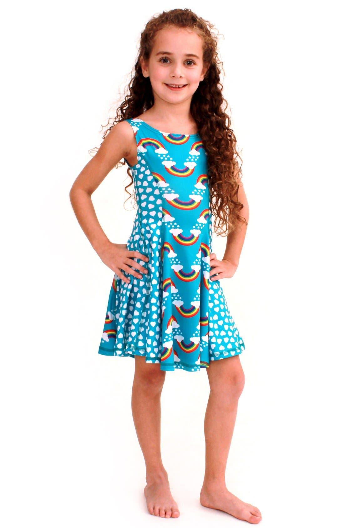 Flow Mixed Print Dress,                             Main thumbnail 3, color,