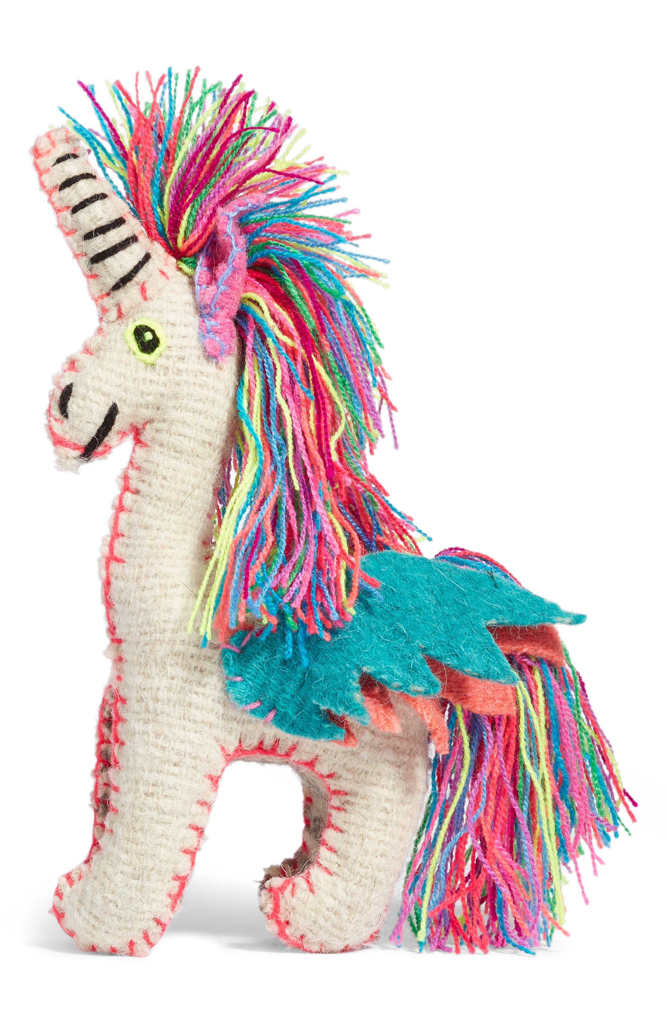 Unicorn Stuffed Animal,                             Main thumbnail 1, color,                             MULTI
