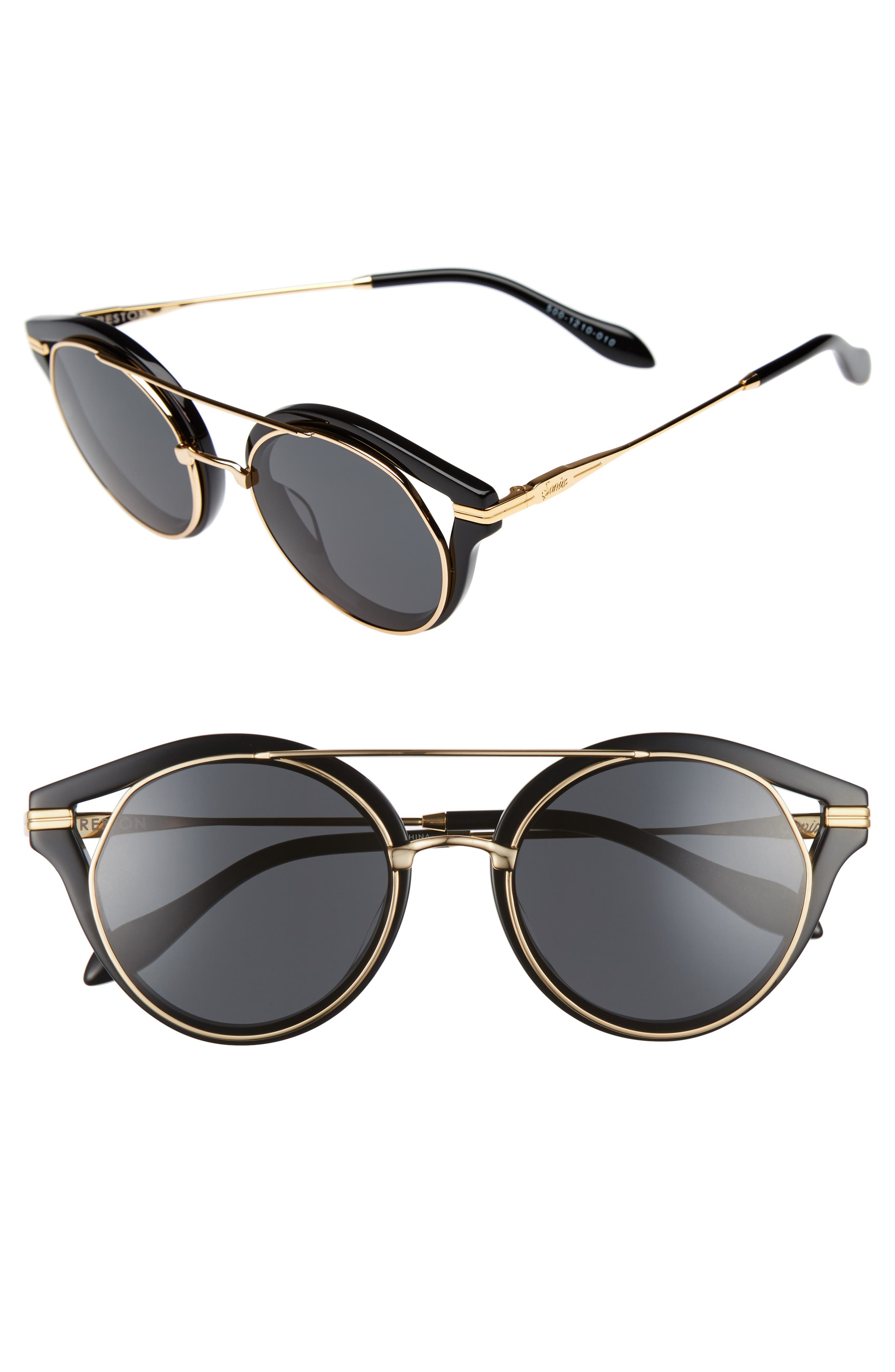 SONIX,                             Preston 51mm Gradient Round Sunglasses,                             Main thumbnail 1, color,                             001