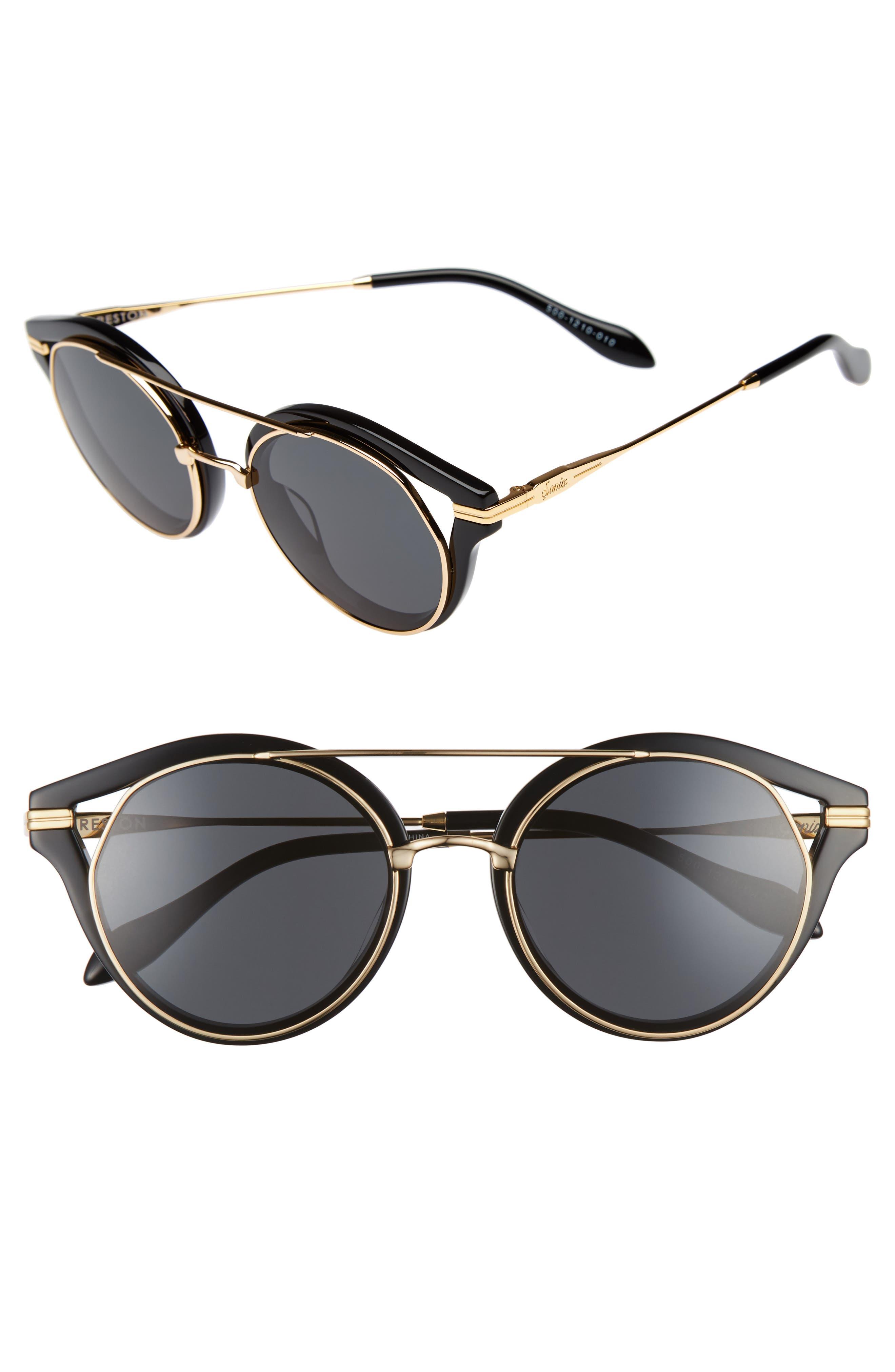 SONIX Preston 51mm Gradient Round Sunglasses, Main, color, 001