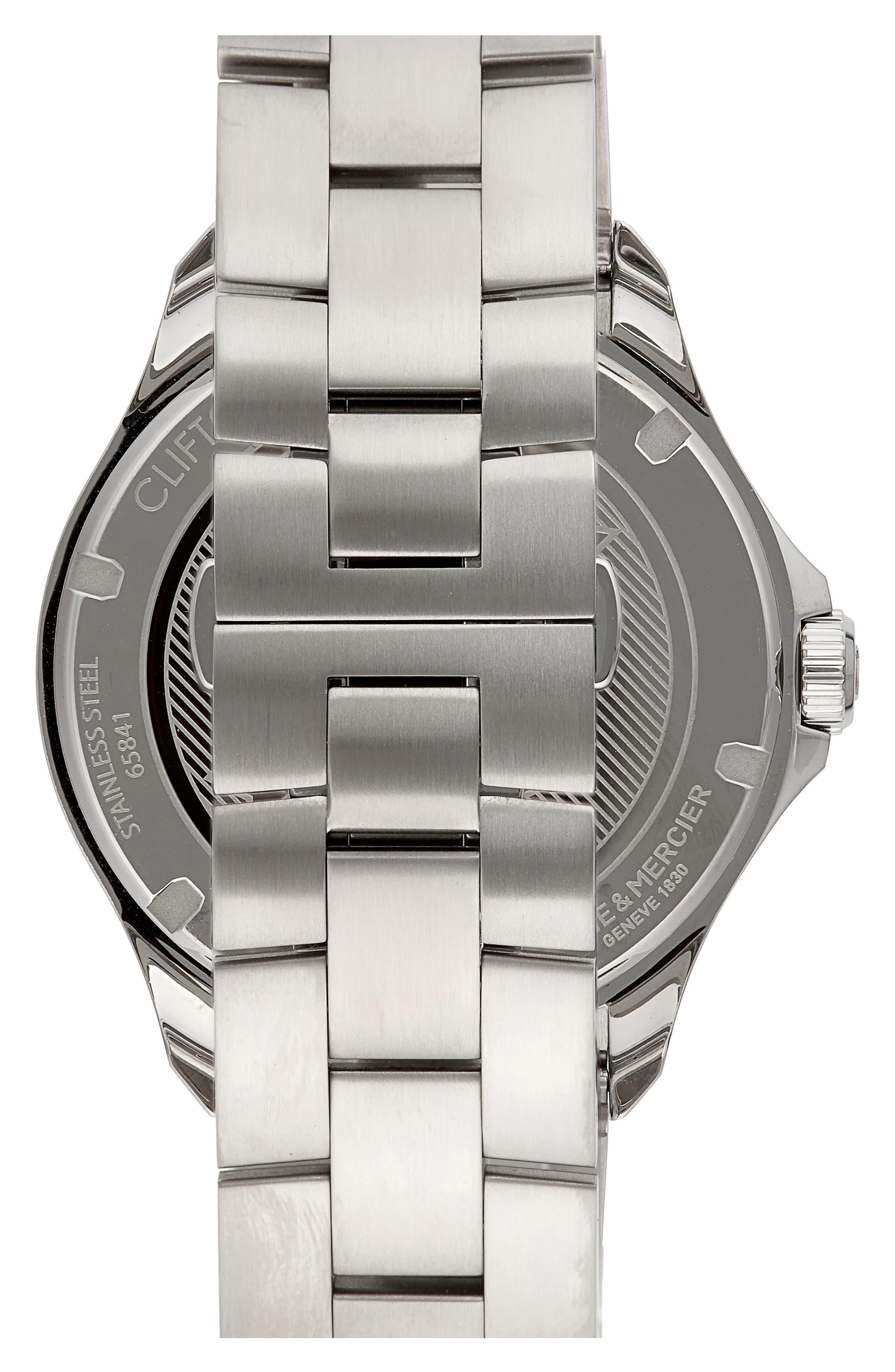 Baume & Mercier Clifton Club Bracelet Watch, 42mm,                             Alternate thumbnail 2, color,                             BLUE/SILVER