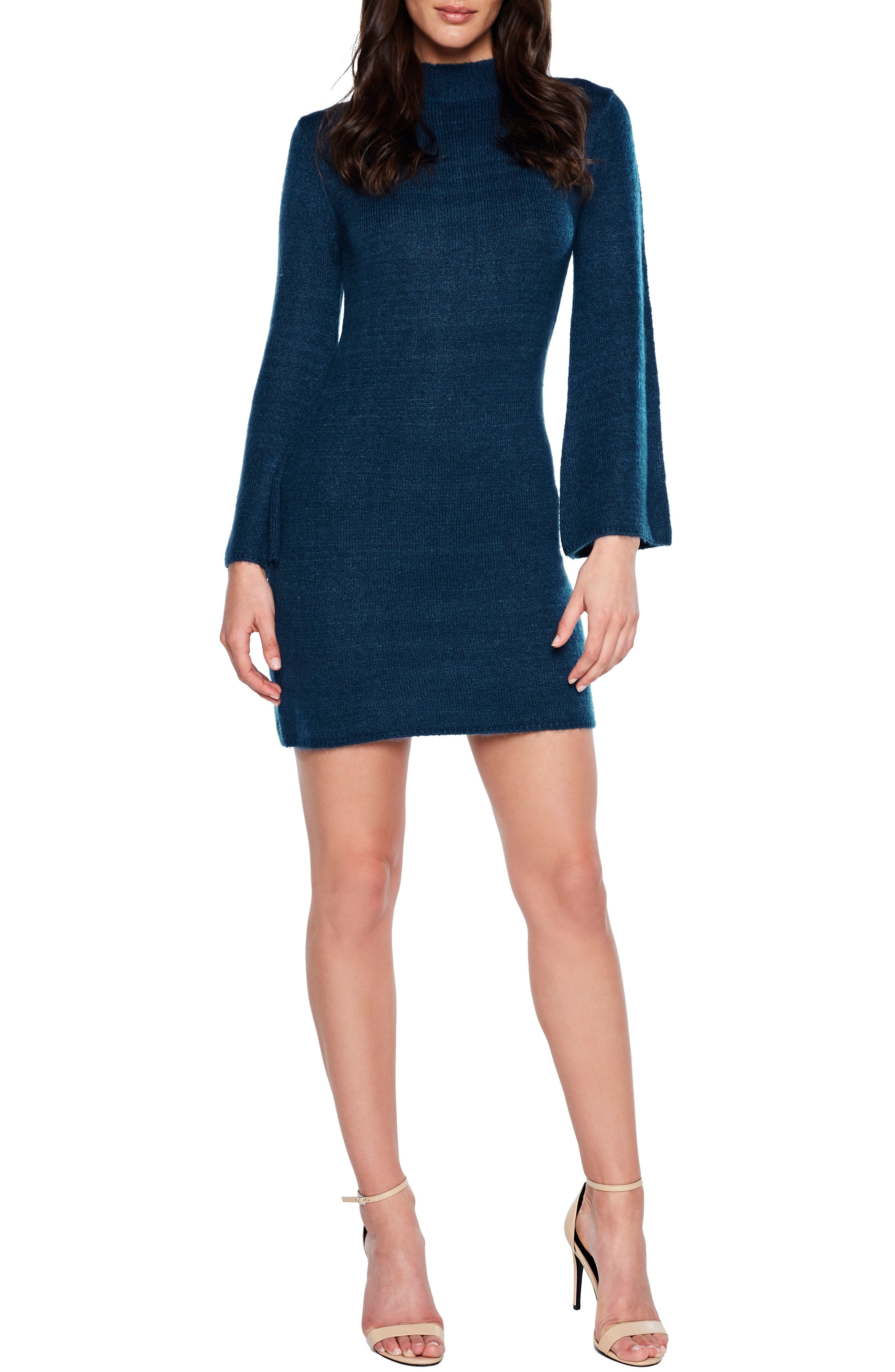 Bardot Tash Sweater Dress, Blue