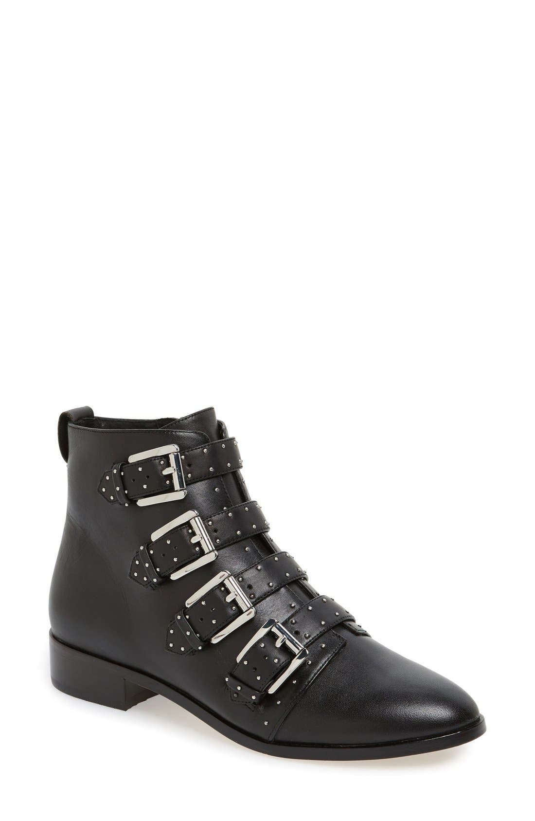 REBECCA MINKOFF 'Maddox' Buckle Bootie, Main, color, 001