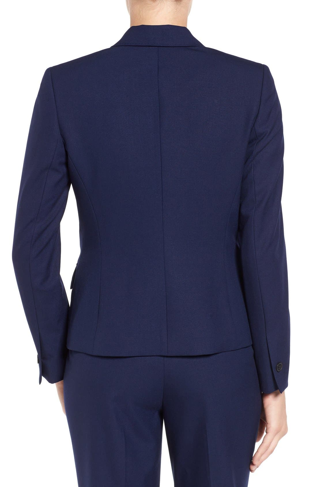One-Button Suit Jacket,                             Alternate thumbnail 4, color,                             NAVY