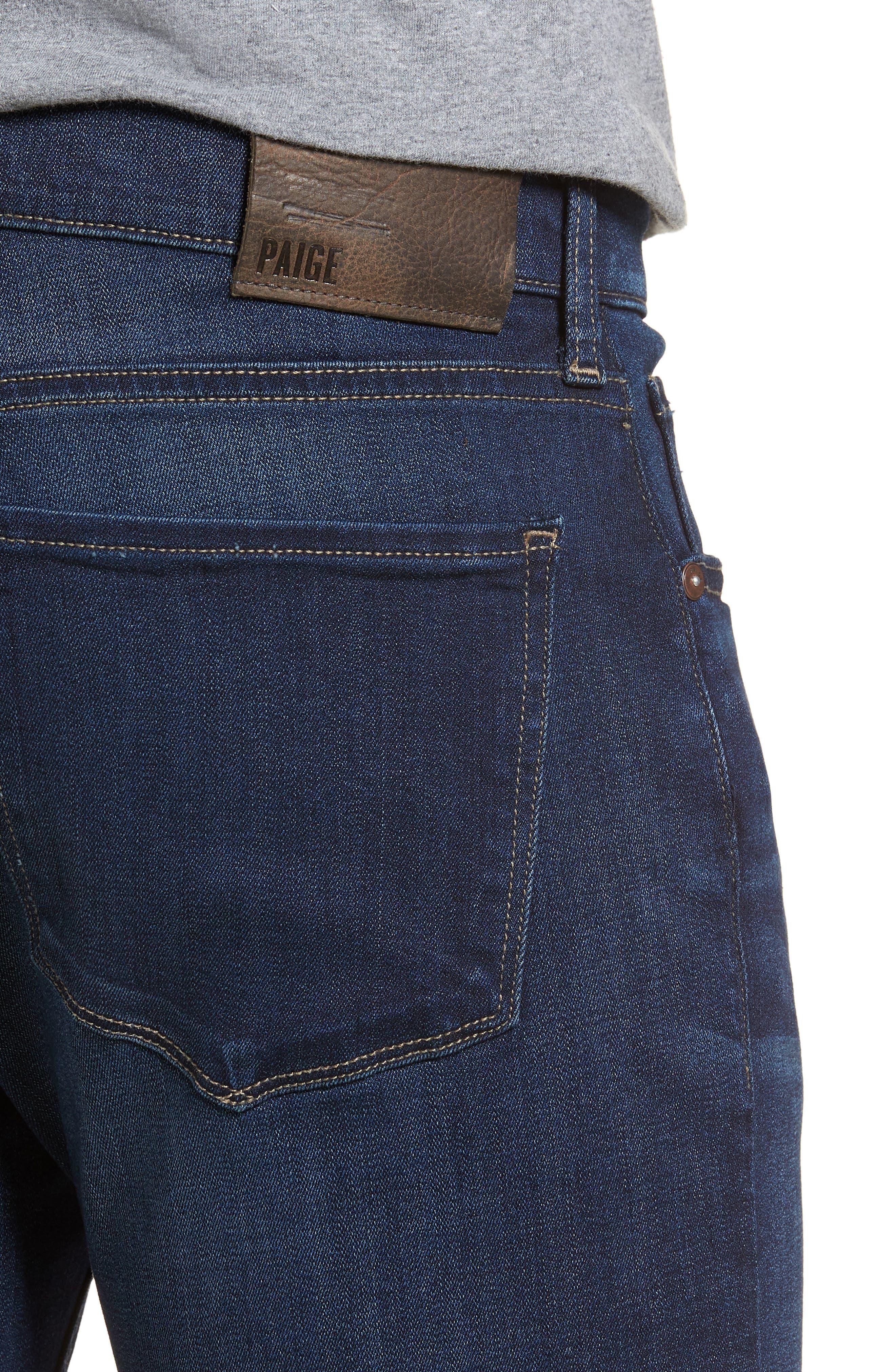 PAIGE,                             Federal Slim Straight Leg Jeans,                             Alternate thumbnail 4, color,                             400