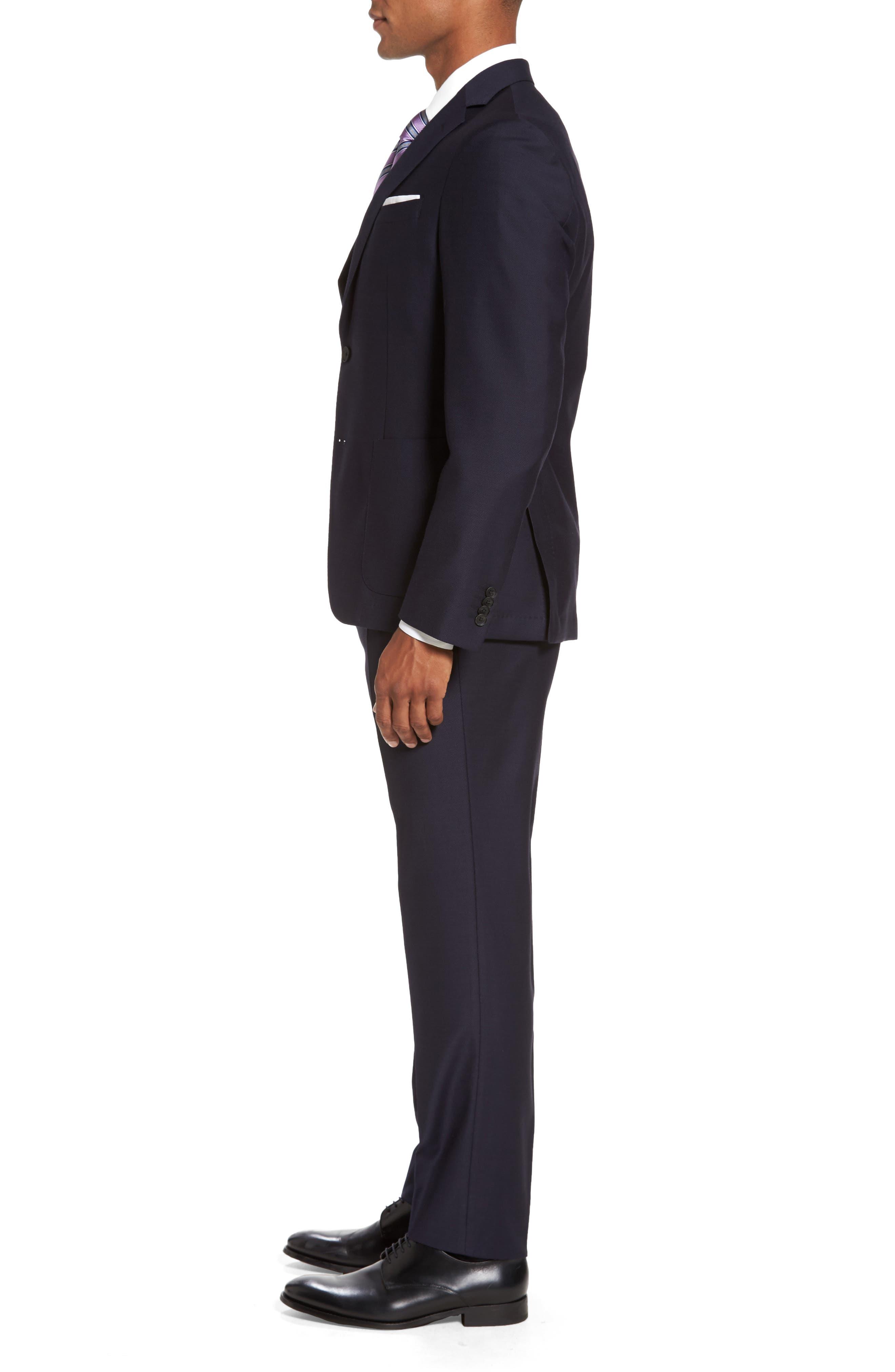 Novan/Ben Classic Fit Solid Wool Suit,                             Alternate thumbnail 3, color,                             410