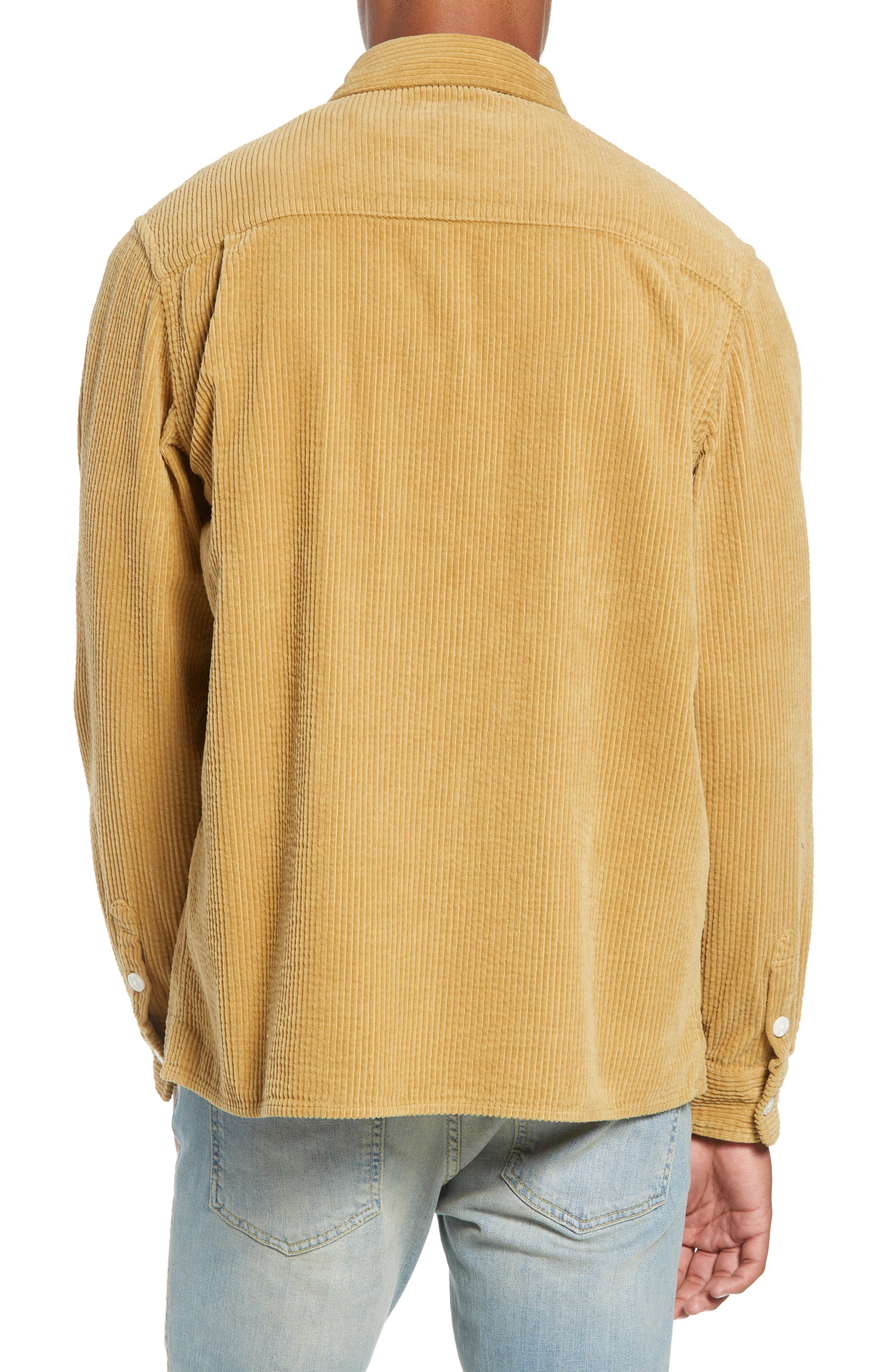 Magnus Heavy Corduroy Shirt,                             Alternate thumbnail 3, color,                             BRITISH KHAKI