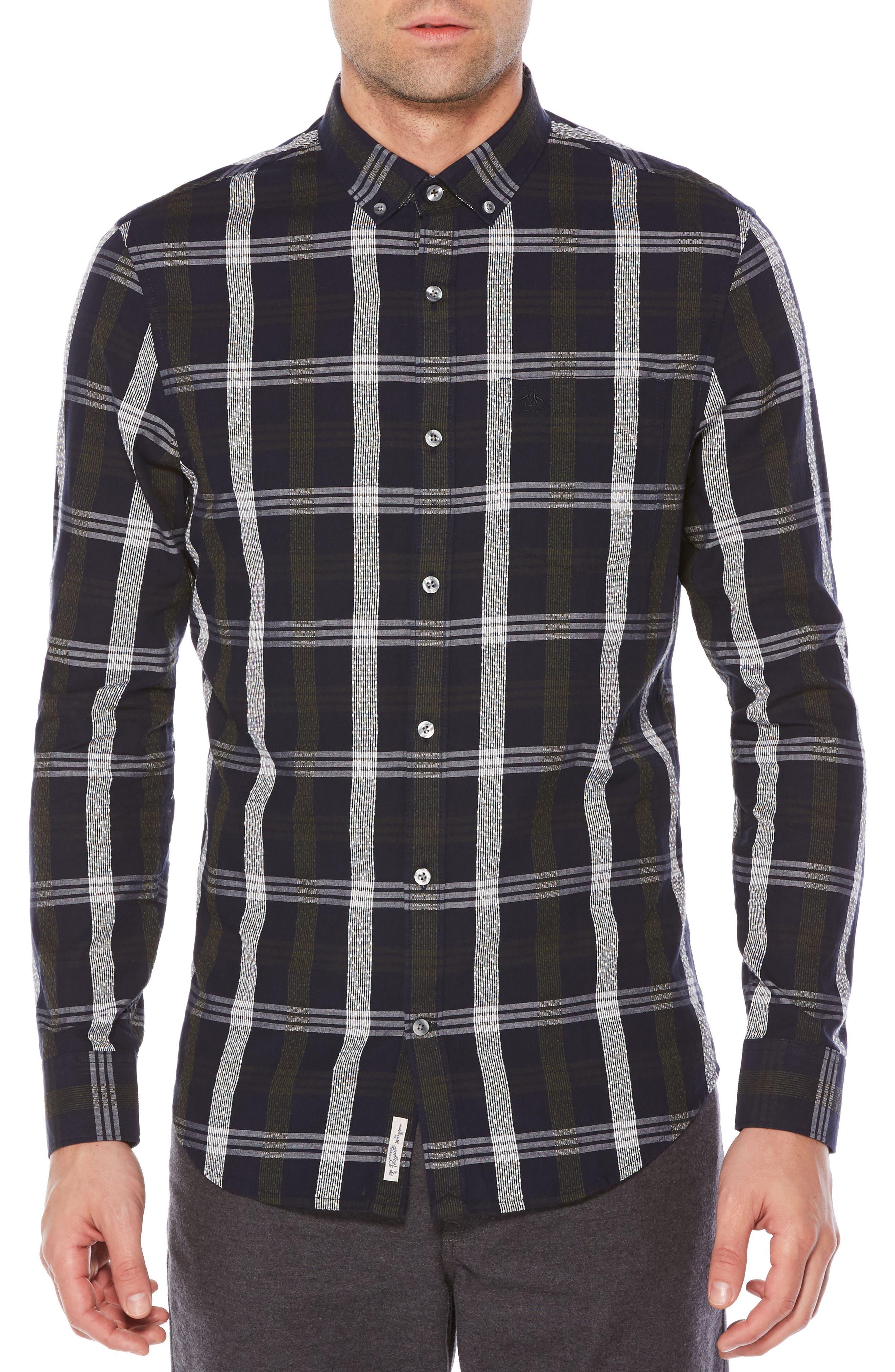 Nep Plaid Slim Shirt,                             Main thumbnail 1, color,