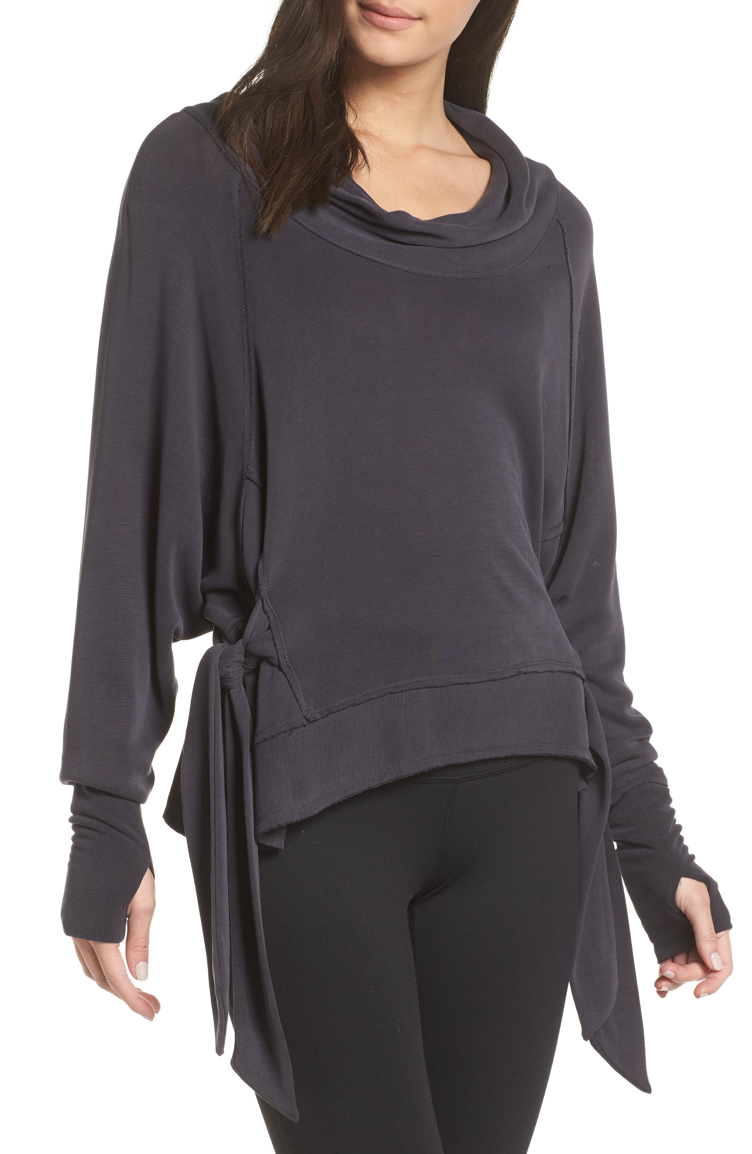 Free People FP Movement Sweet Flow Pullover Sweater,                             Main thumbnail 1, color,                             BLACK