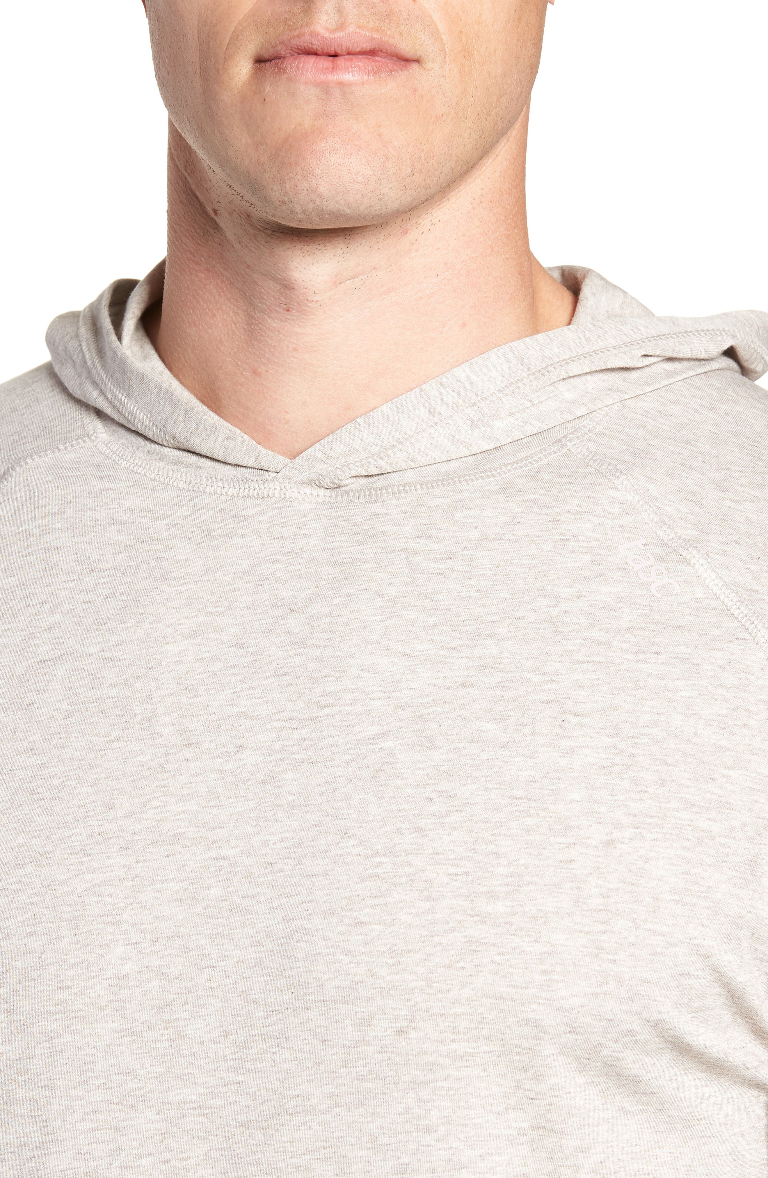 Carrollton Regular Fit Pullover Hoodie,                             Alternate thumbnail 4, color,                             CRATER HEATHER