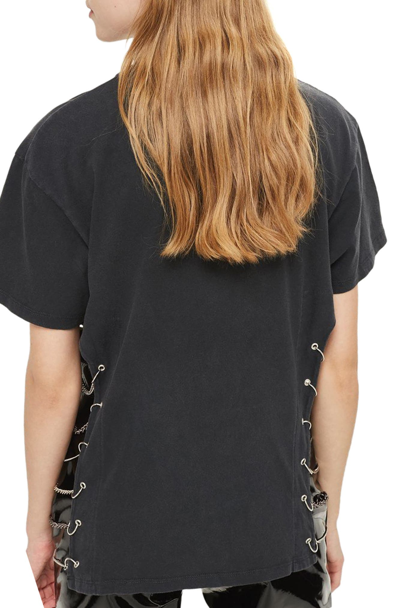 by And Finally Metallica Chained Tee,                             Alternate thumbnail 2, color,                             002