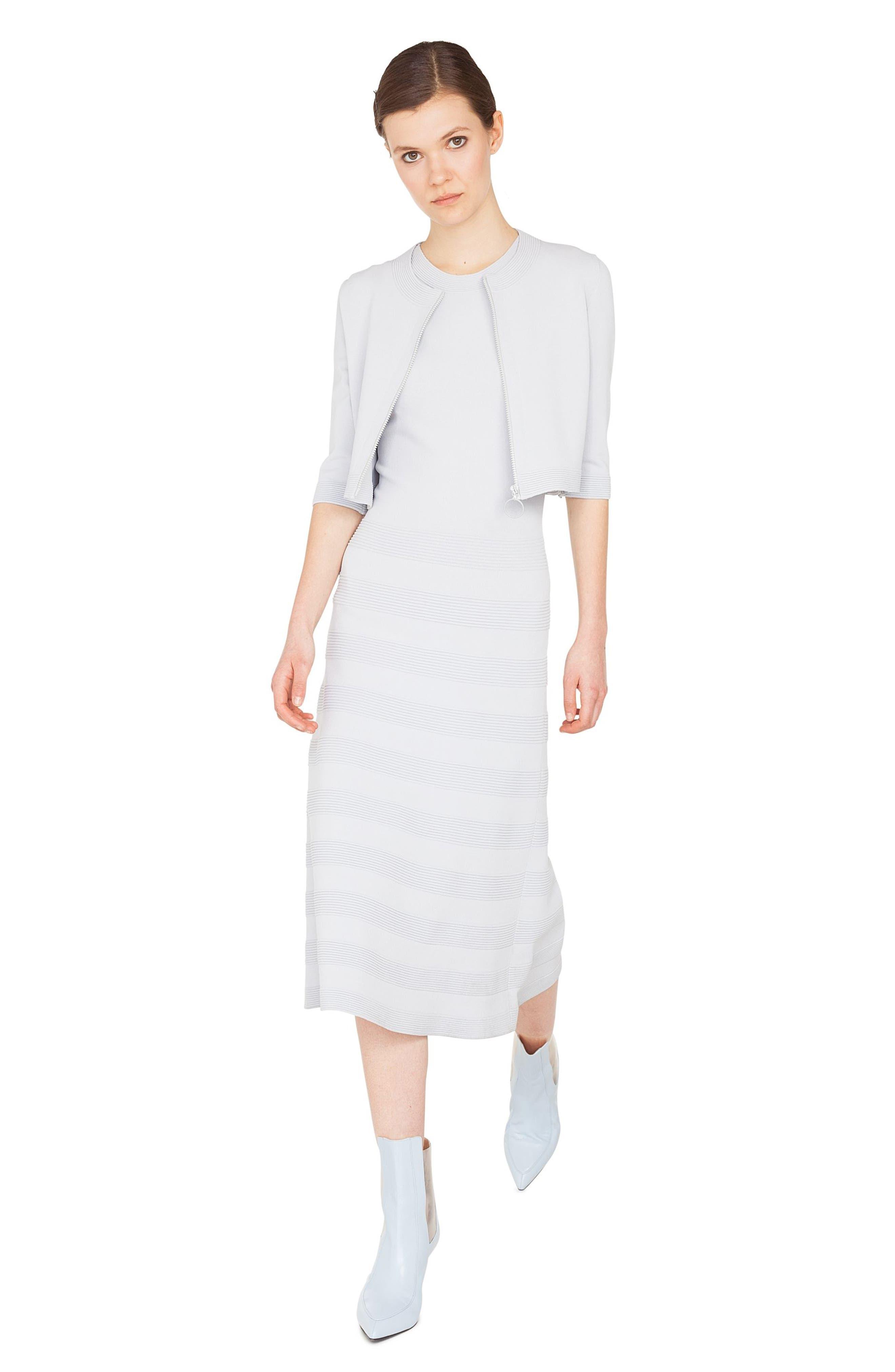 Rib Stripe Midi Dress,                             Alternate thumbnail 3, color,                             081