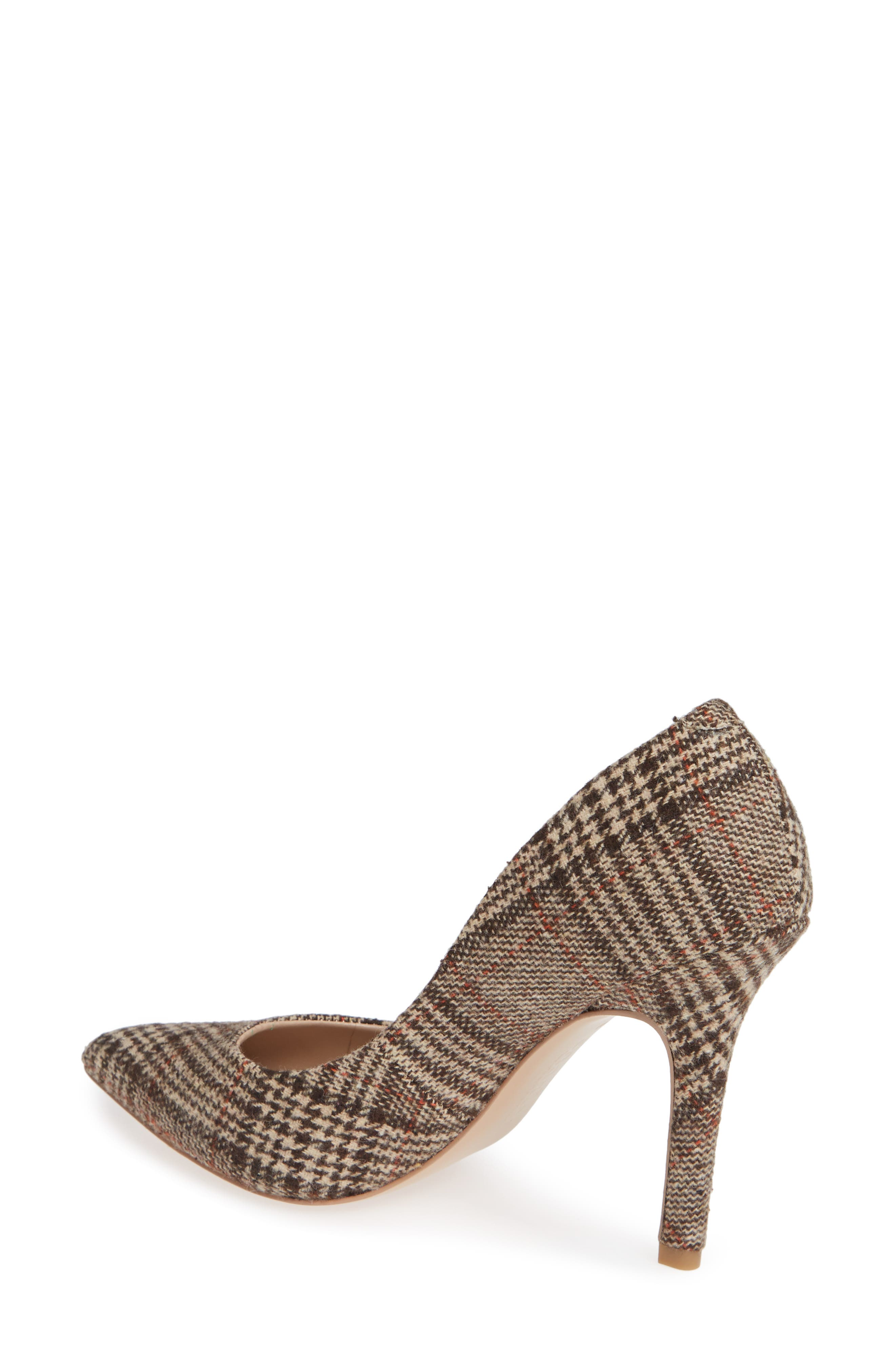 Maxx Pointy Toe Pump,                             Alternate thumbnail 2, color,                             BROWN PLAID FABRIC