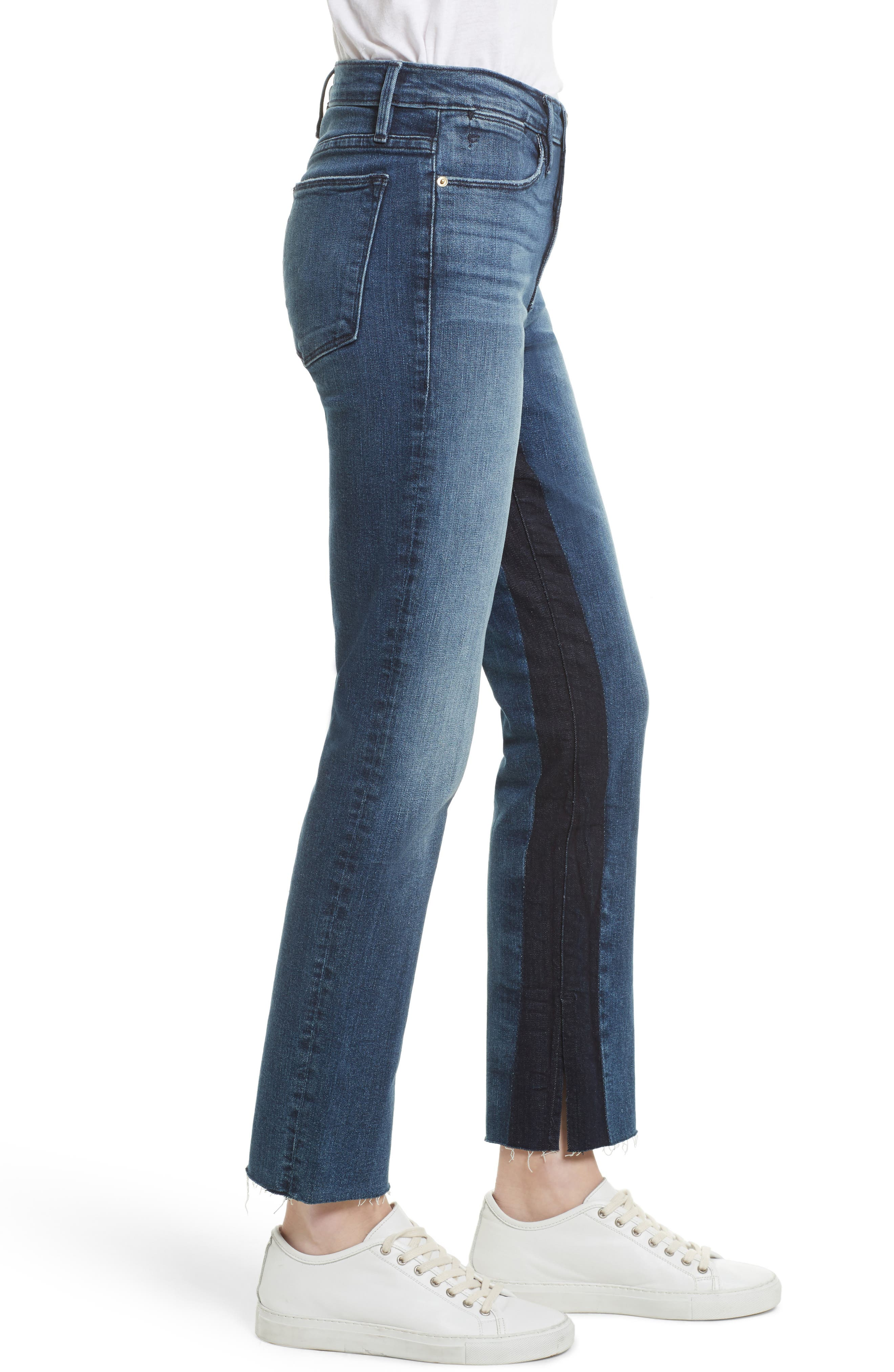 Le High Ankle Straight Leg Jeans,                             Alternate thumbnail 3, color,                             420