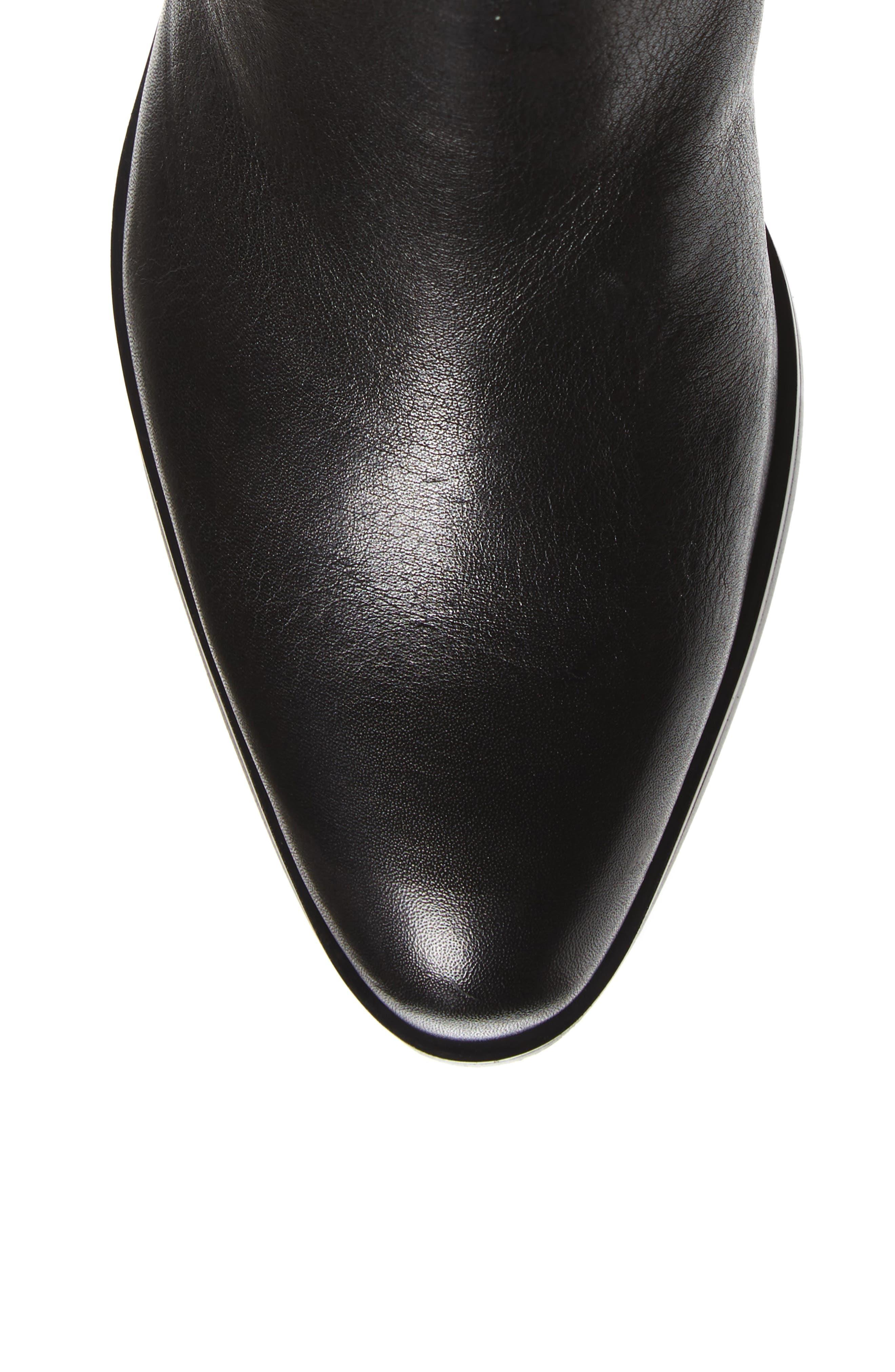 Melino Boot,                             Alternate thumbnail 5, color,                             BLACK LEATHER