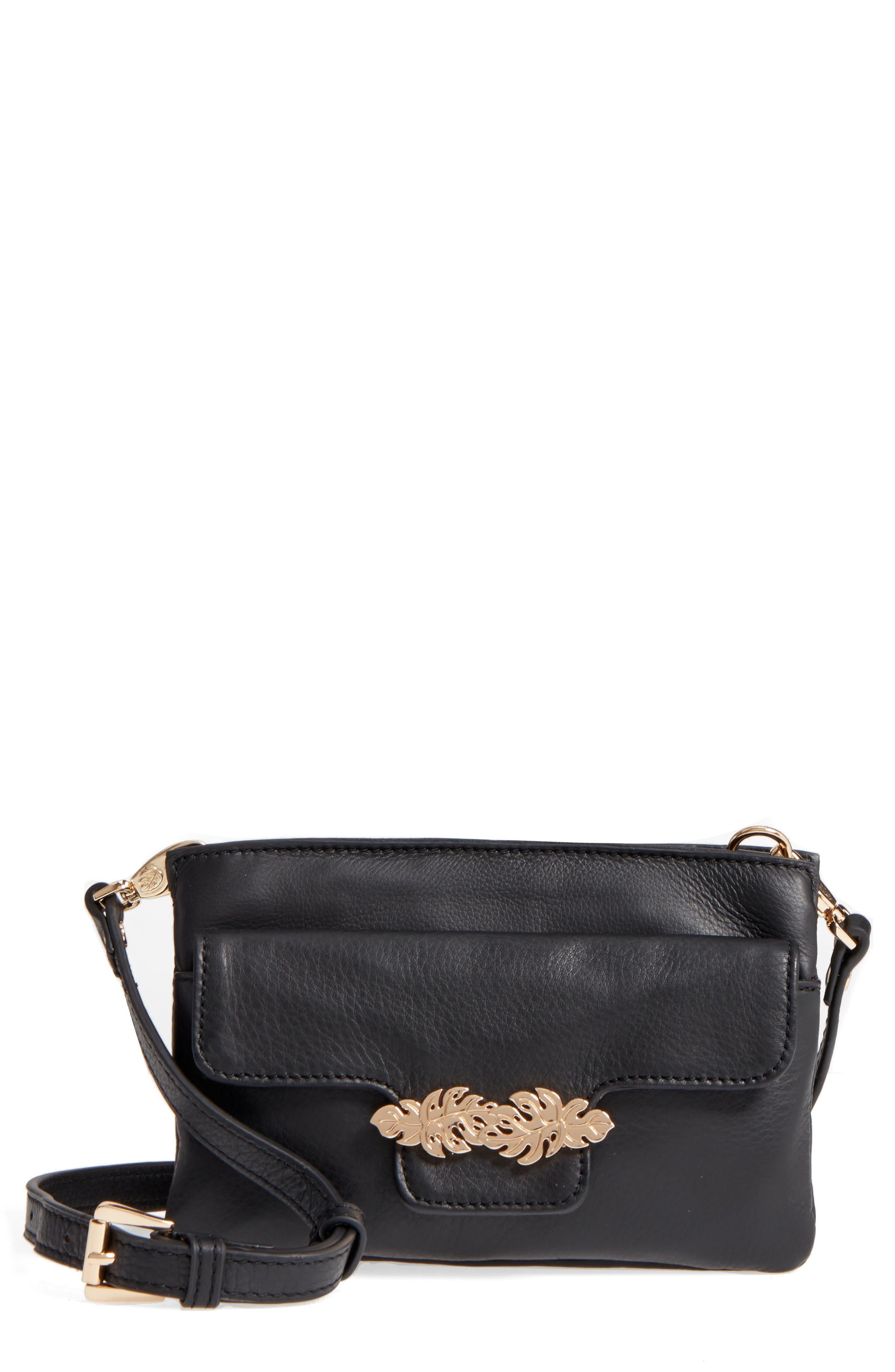 Katerini Leather Crossbody Wallet,                             Main thumbnail 3, color,