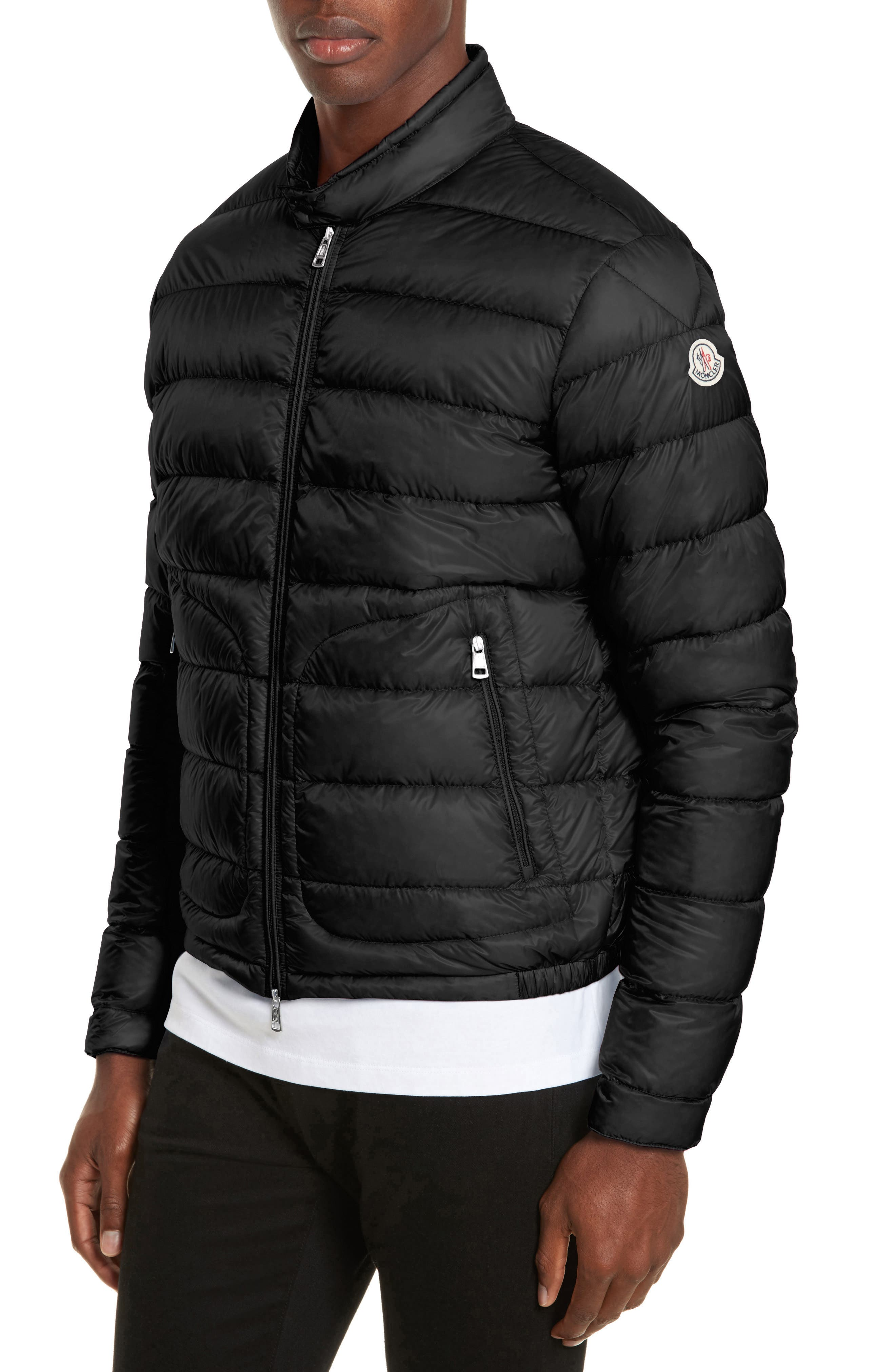 Acorus Down Quilted Jacket,                             Alternate thumbnail 4, color,                             001