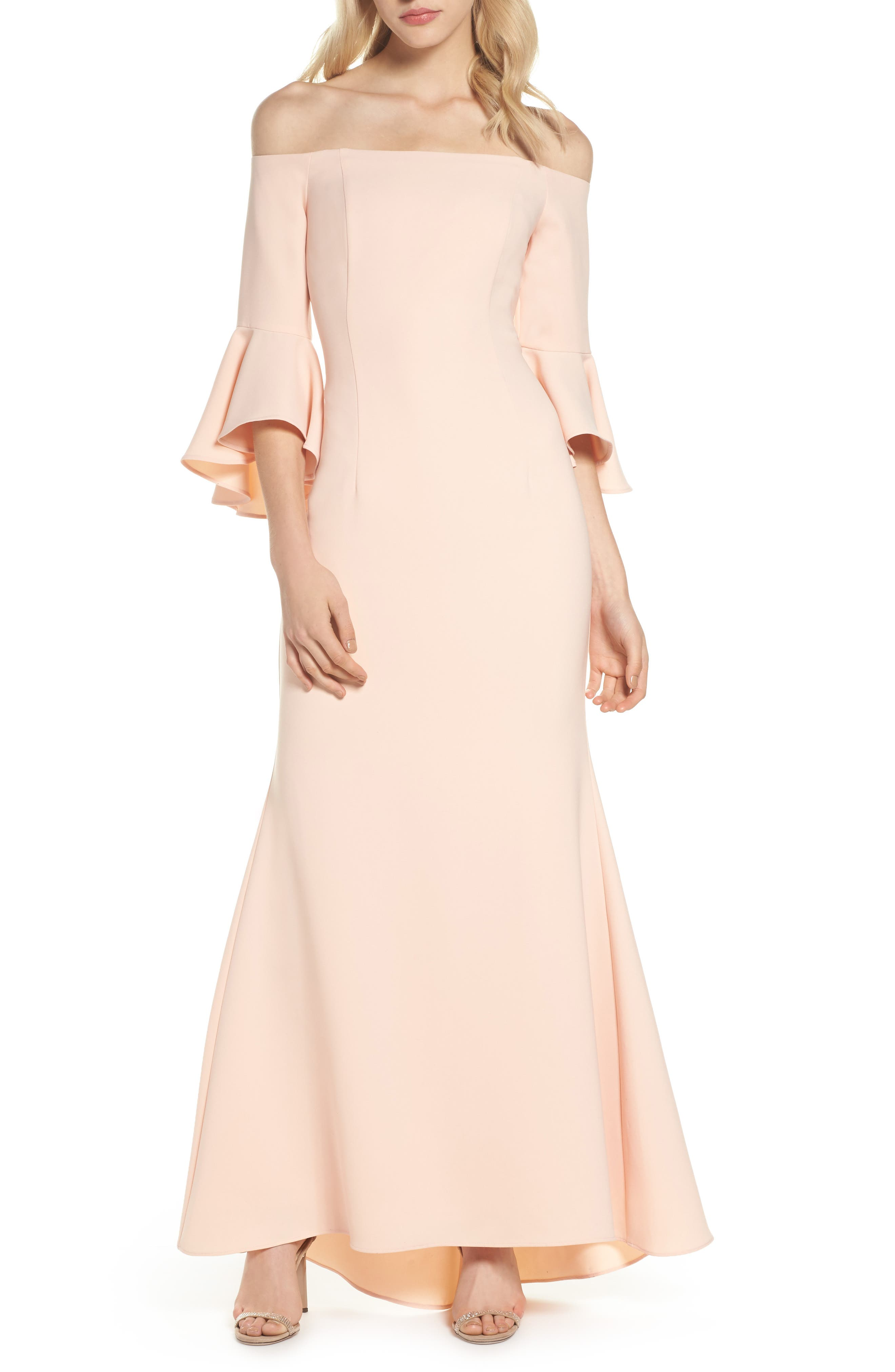 Off The Shoulder Gown,                         Main,                         color, 684
