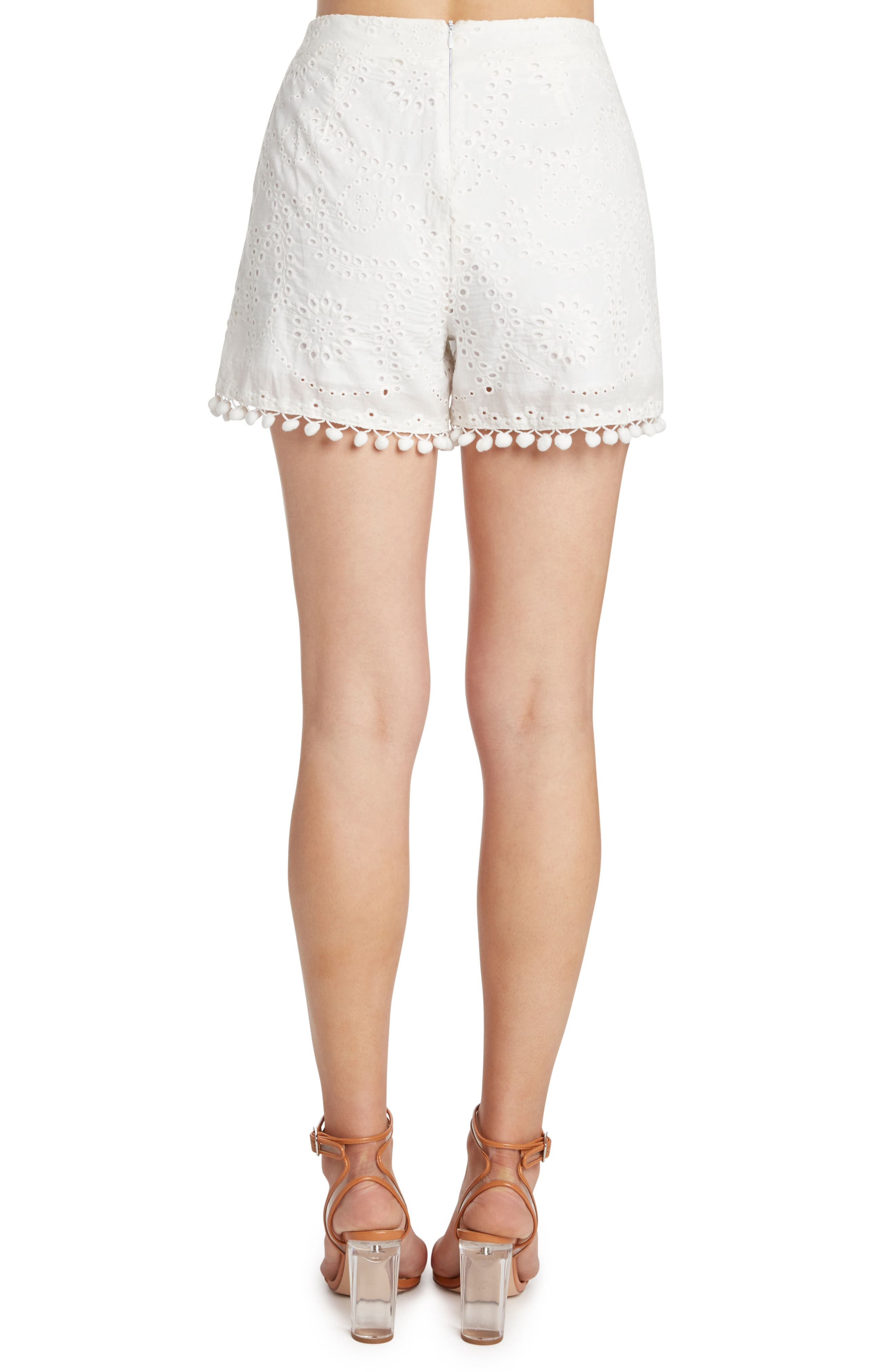 Eyelet Shorts,                             Alternate thumbnail 2, color,                             106