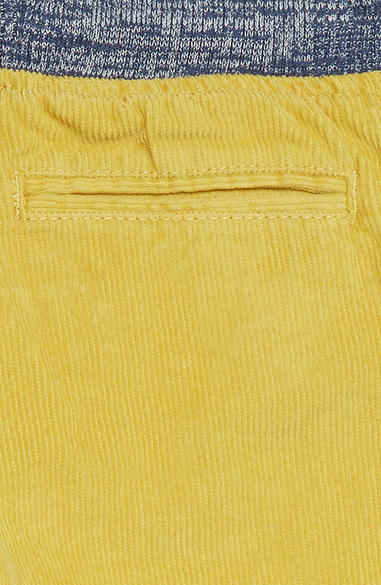 Corduroy Pull-On Pants,                             Alternate thumbnail 3, color,                             SOFT LIME YELLOW