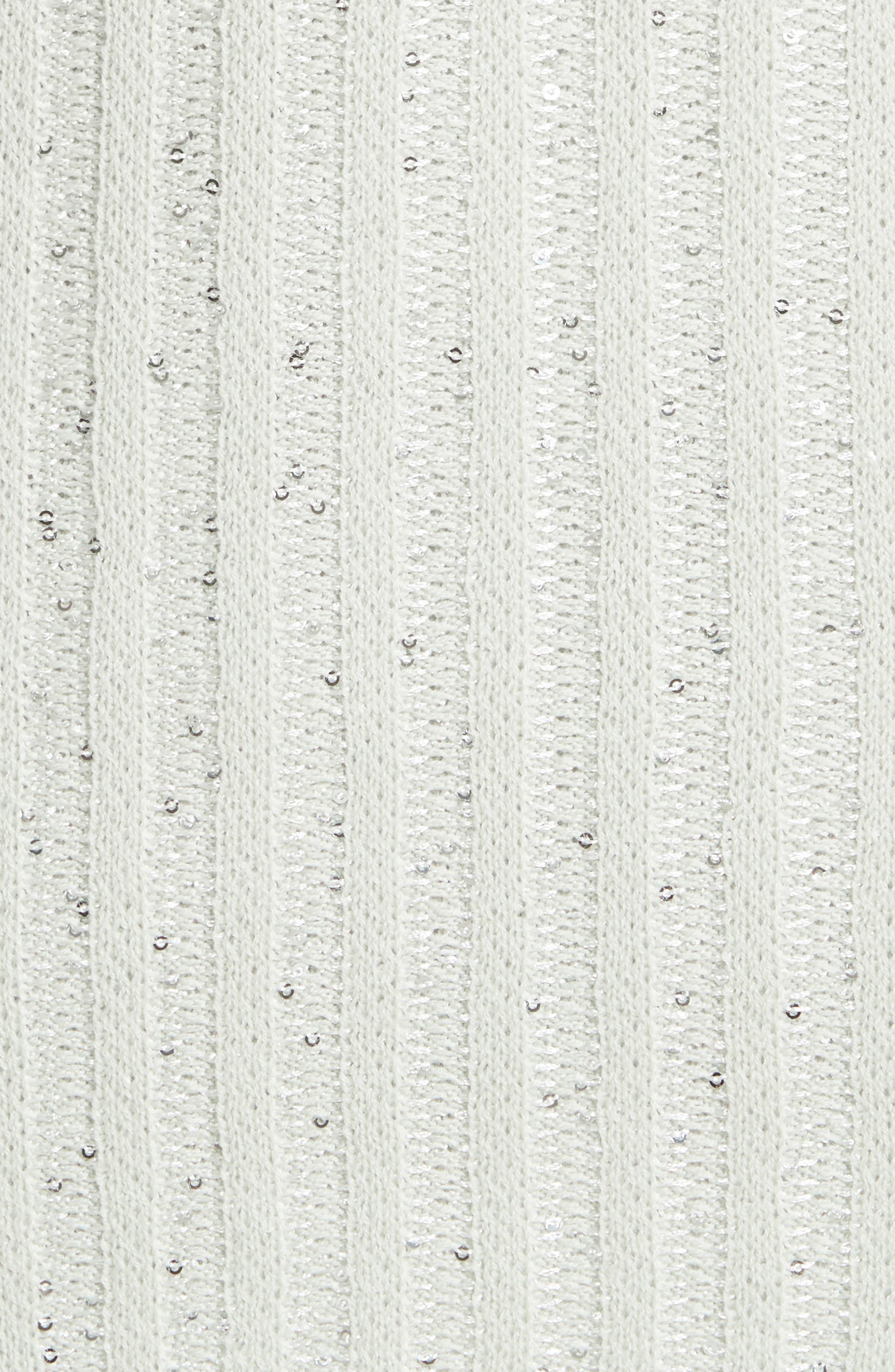 Sparkle Engineered Rib Sweater,                             Alternate thumbnail 5, color,                             050