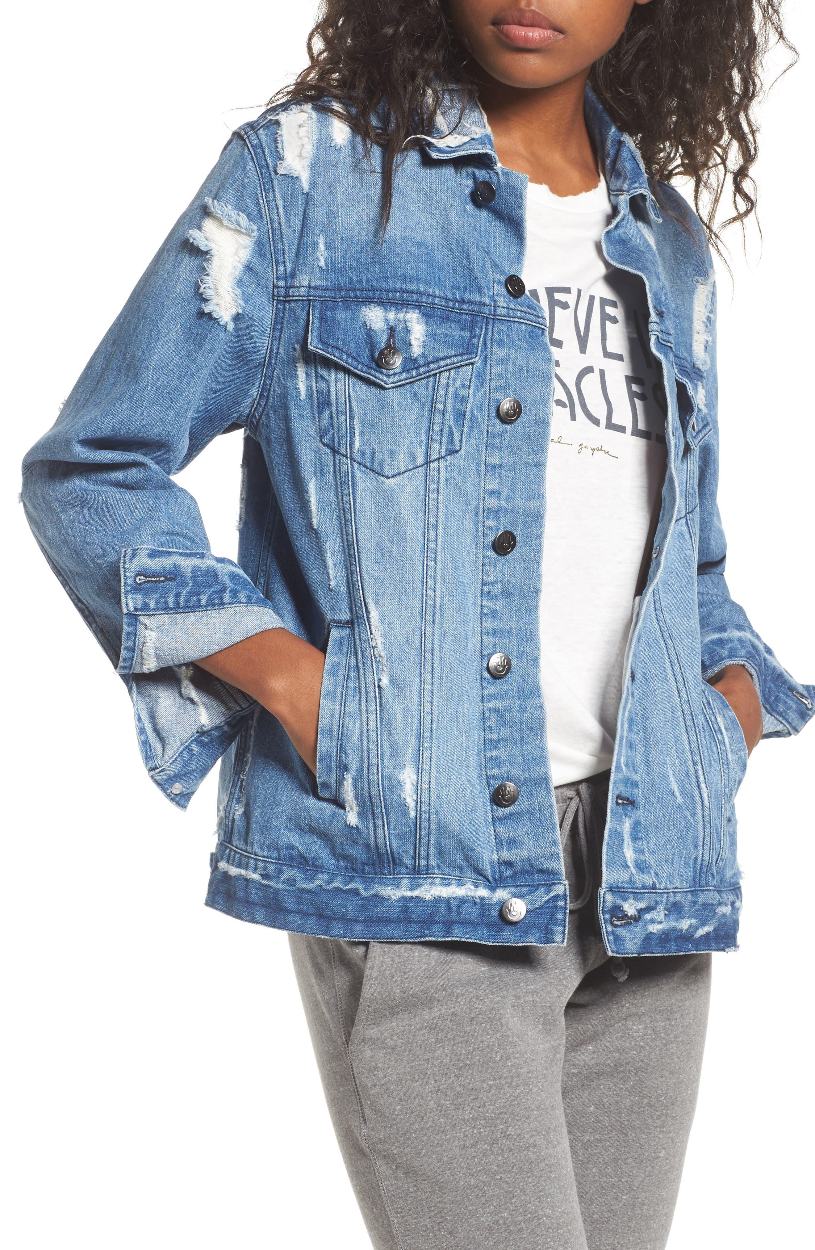 I Am the Light Denim Jacket,                         Main,                         color, 400