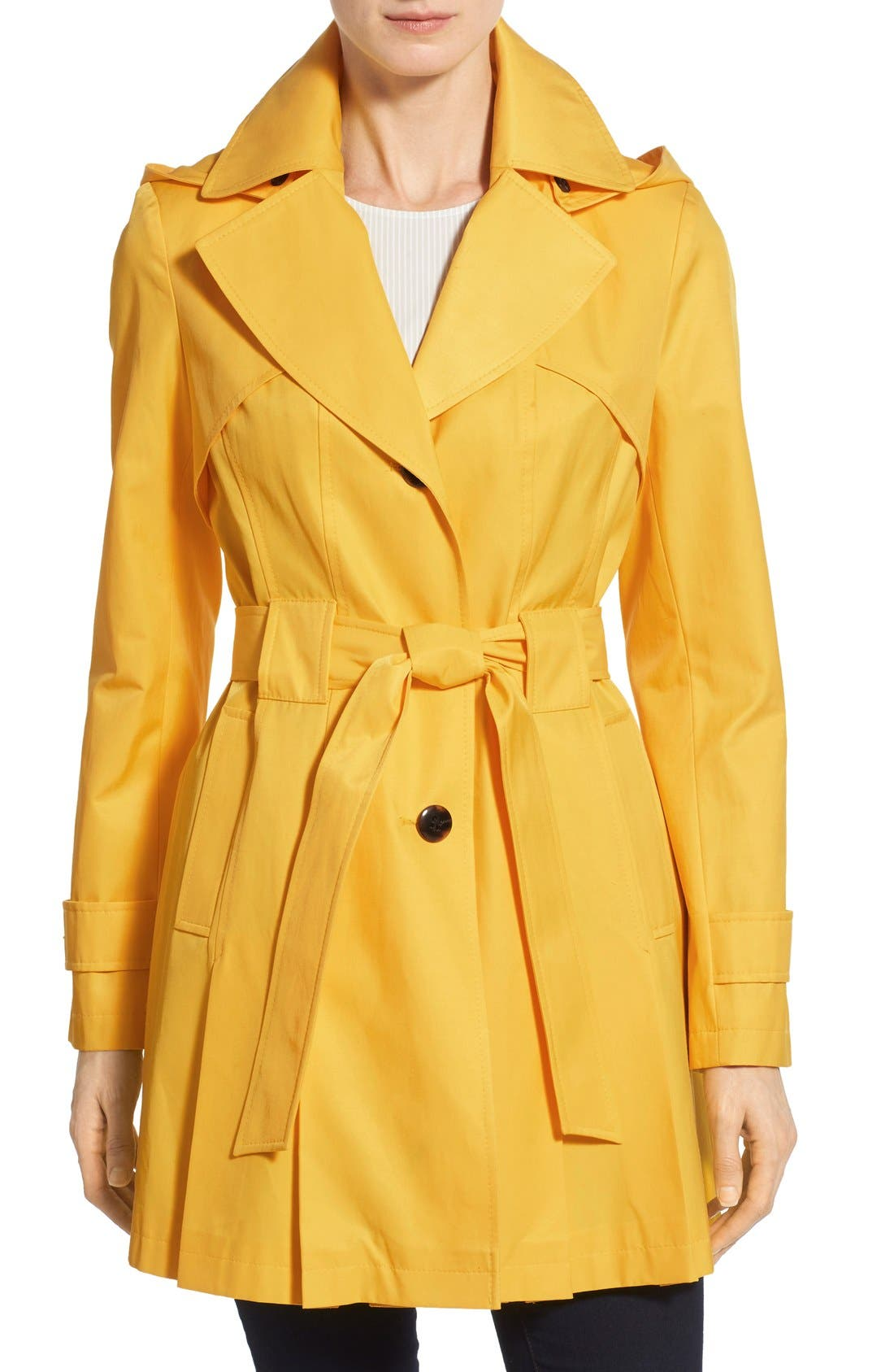 'Scarpa' Hooded Single Breasted Trench Coat,                             Main thumbnail 8, color,
