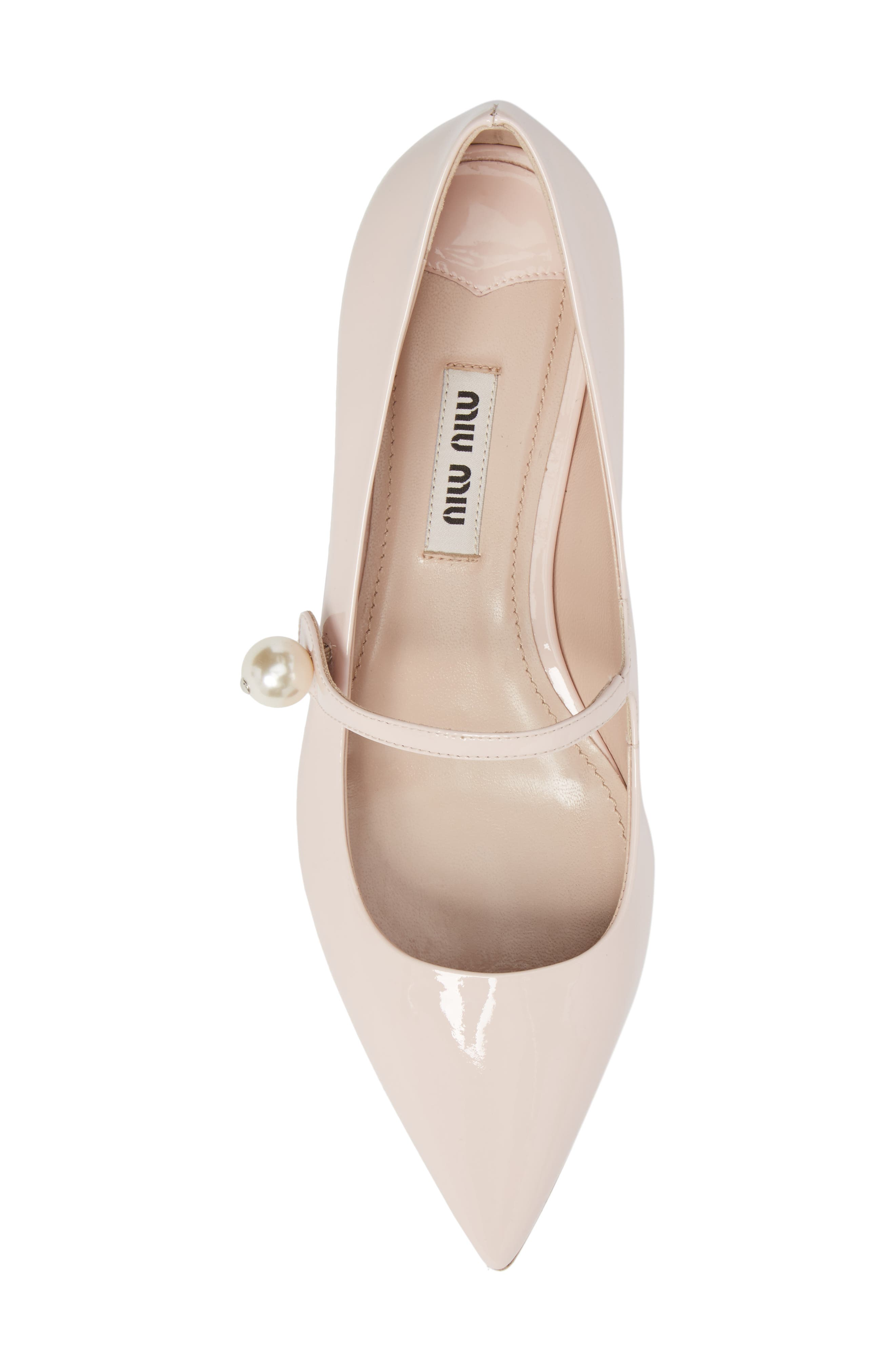 Pearl Mary Jane Flat,                             Alternate thumbnail 5, color,                             LIGHT PINK