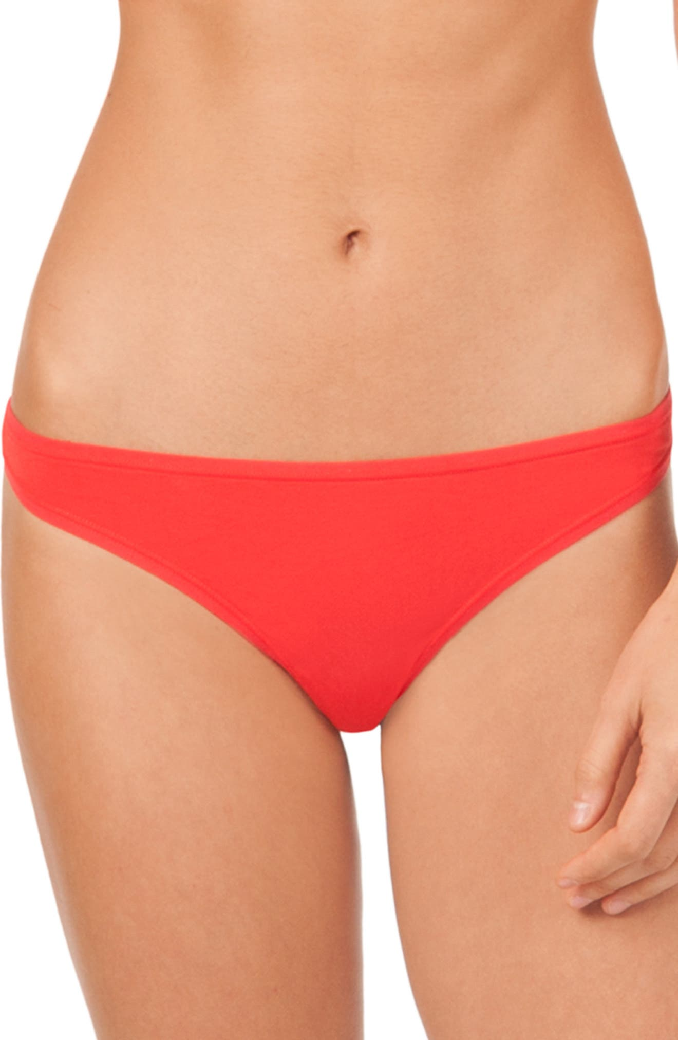 The All Day Thong,                             Main thumbnail 1, color,                             TOMATO