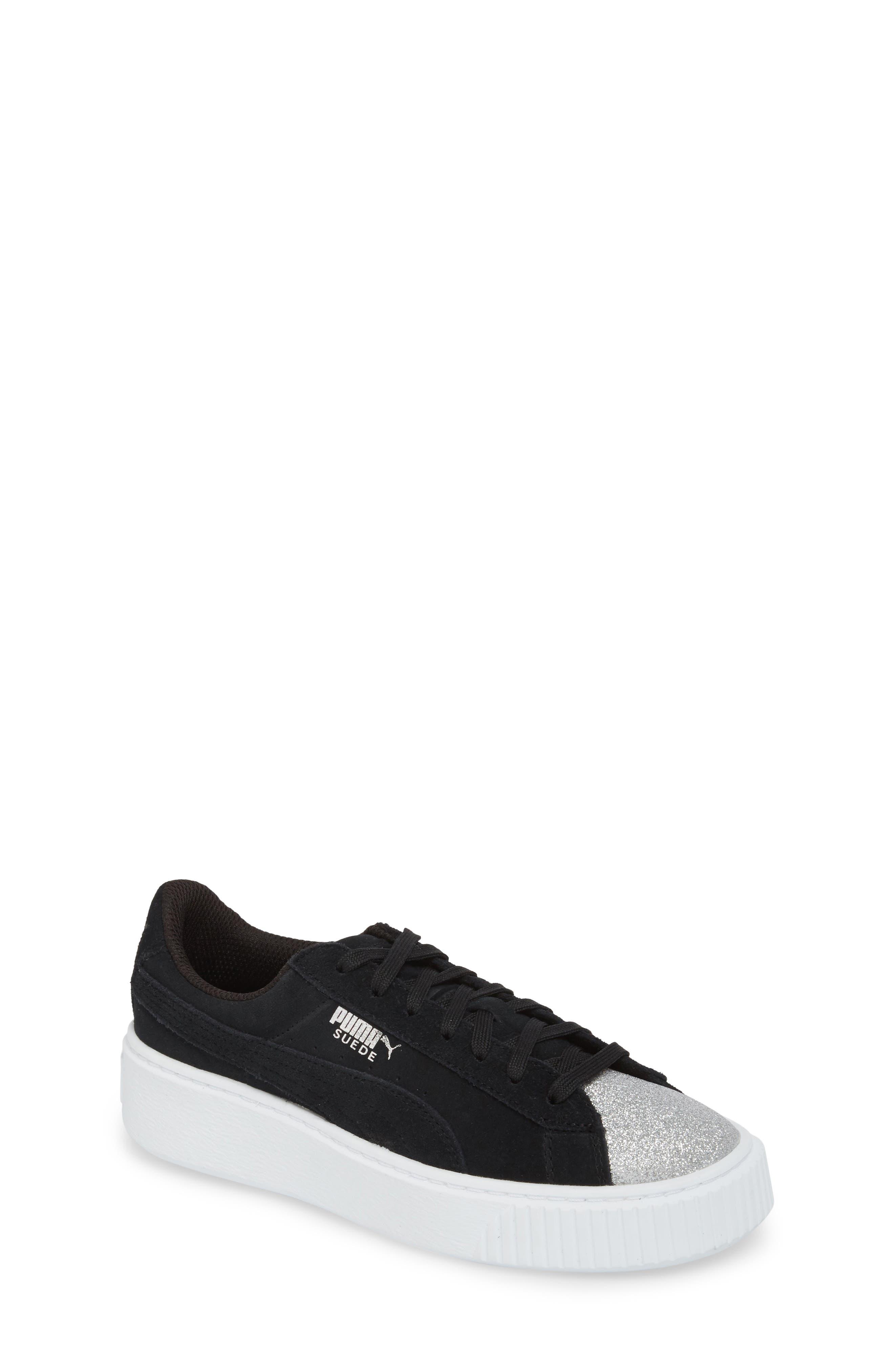 Suede Platform Glam PS Sneaker,                             Main thumbnail 1, color,