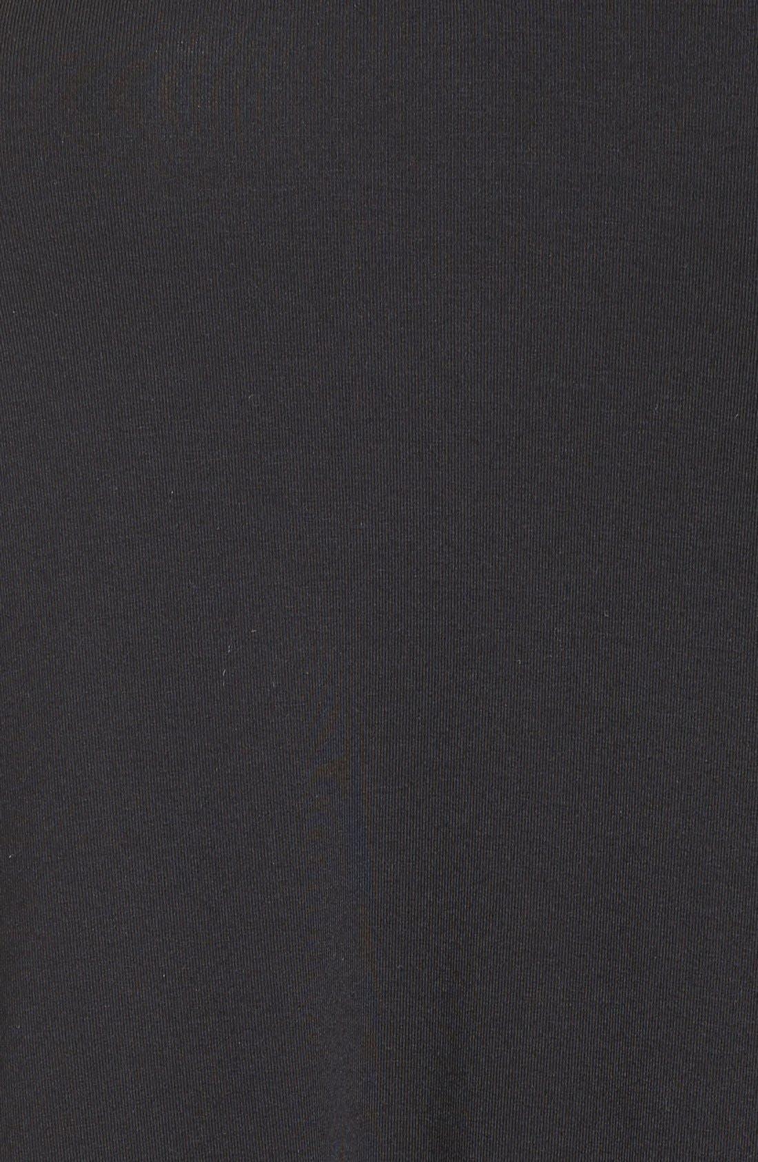 Jessar Lace Yoke Shift Dress,                             Alternate thumbnail 6, color,                             001