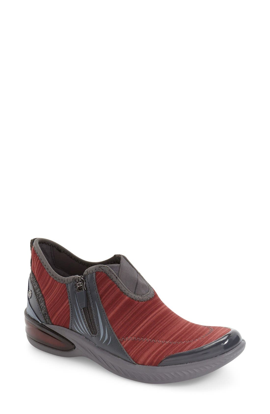 Nova Midi Sneaker,                         Main,                         color, DARK RED LINEAR HEATHER FABRIC