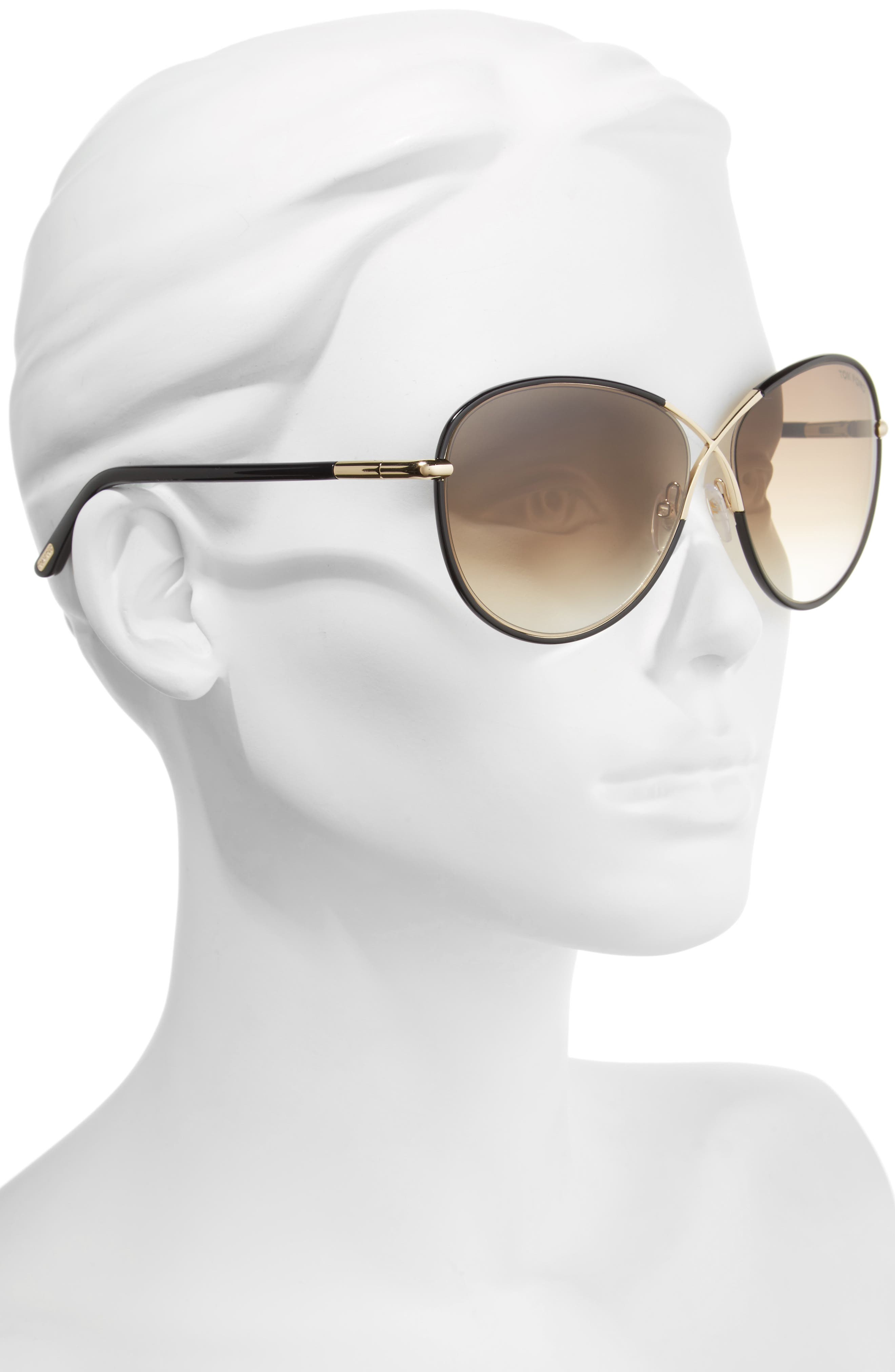 Rosie 62mm Gradient Butterfly Sunglasses,                             Alternate thumbnail 2, color,                             001
