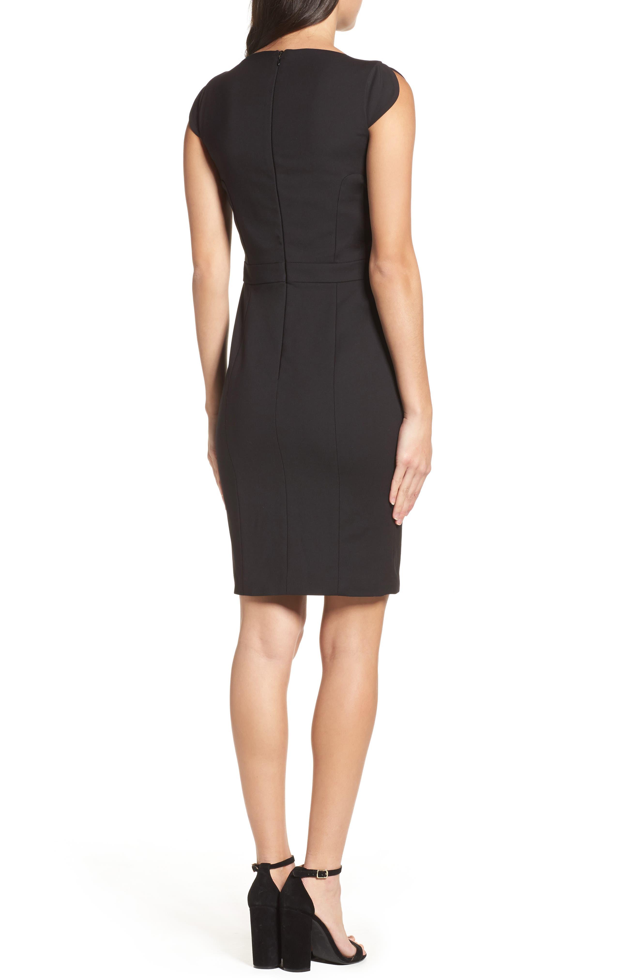 'Lolo' Stretch Sheath Dress,                             Alternate thumbnail 2, color,                             BLACK