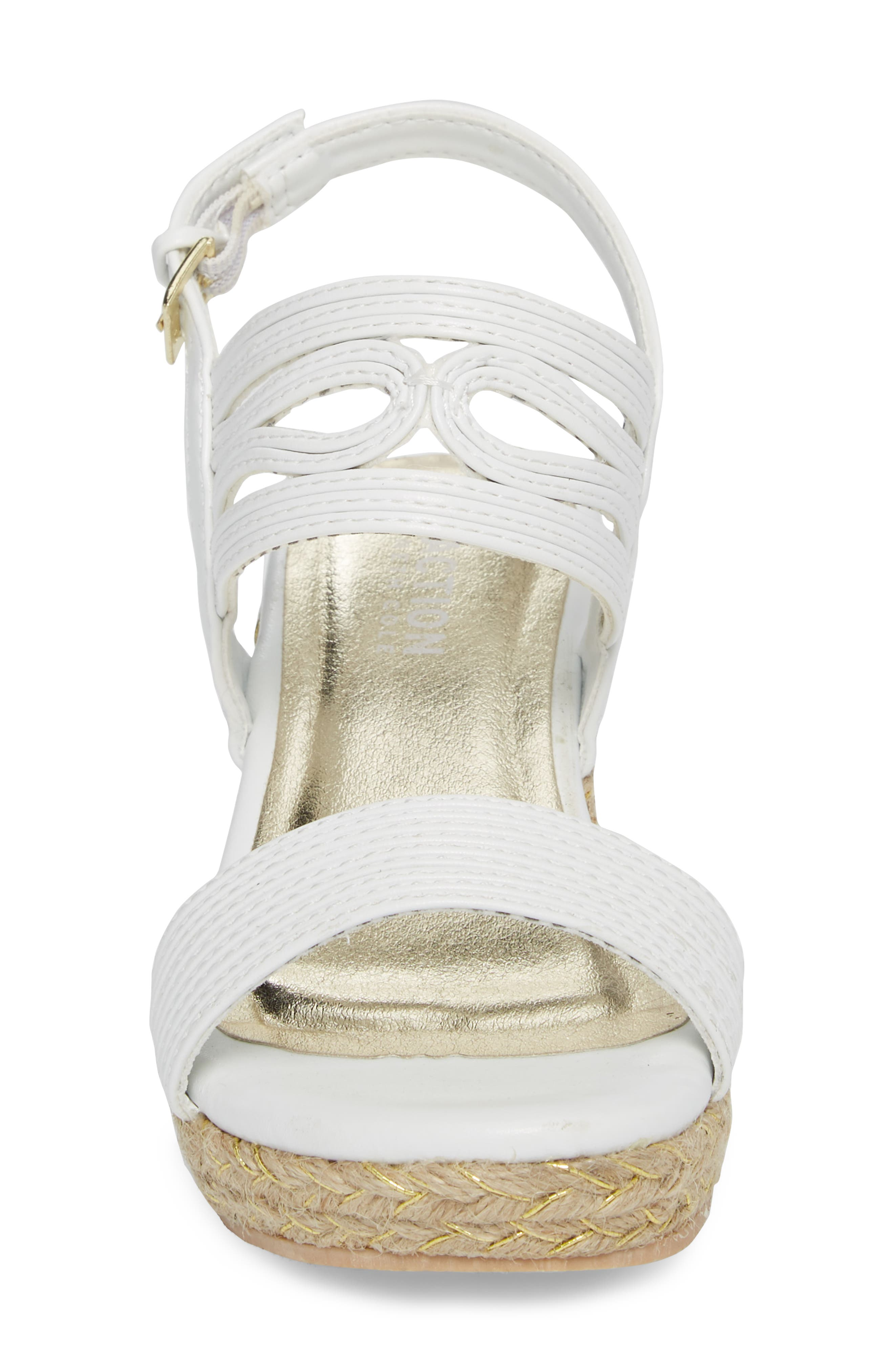 Reed Day Wedge Sandal,                             Alternate thumbnail 4, color,                             100
