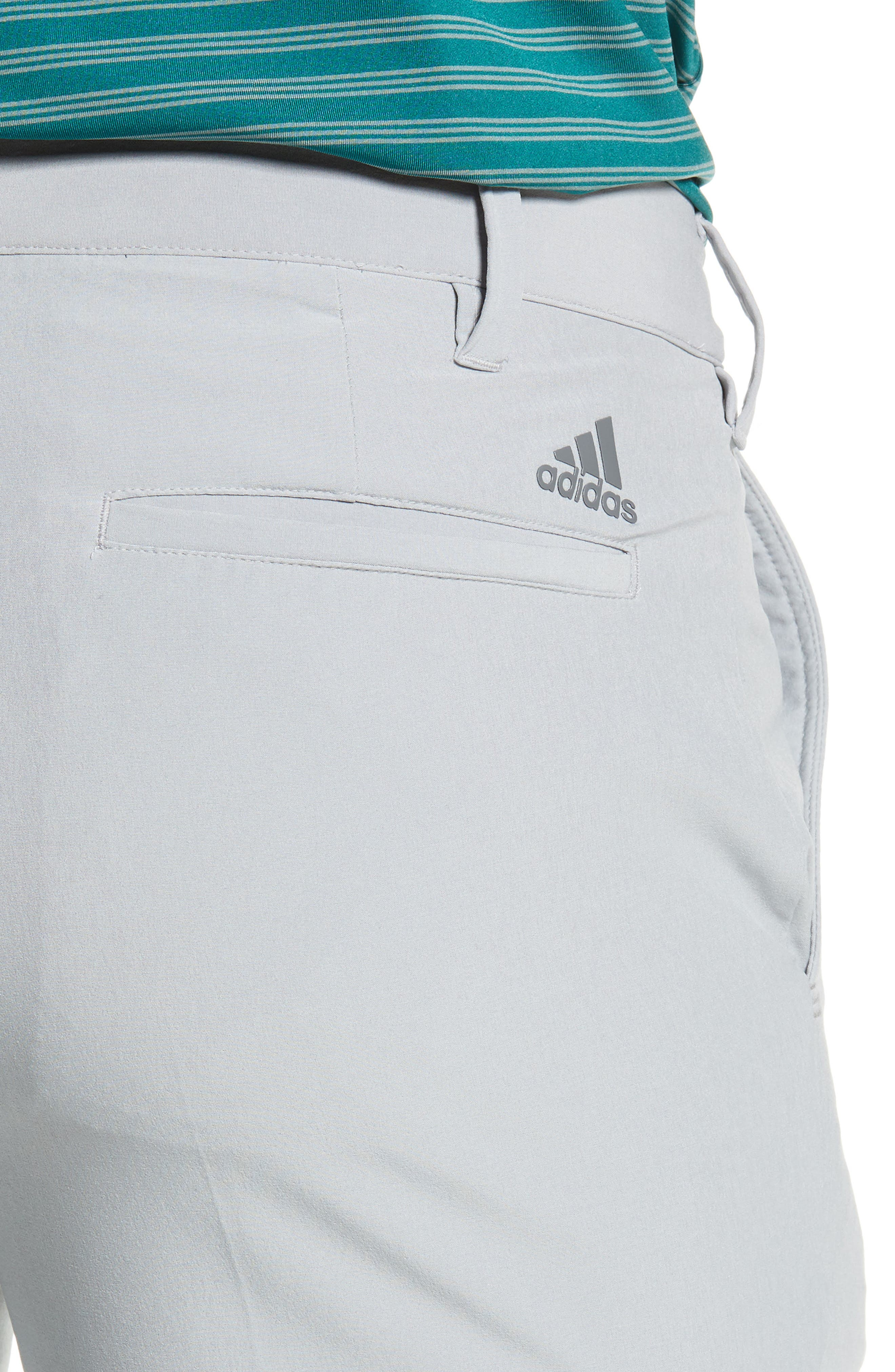 adidas Ultimate Regular Fit Golf Pants,                             Alternate thumbnail 4, color,                             MID GREY